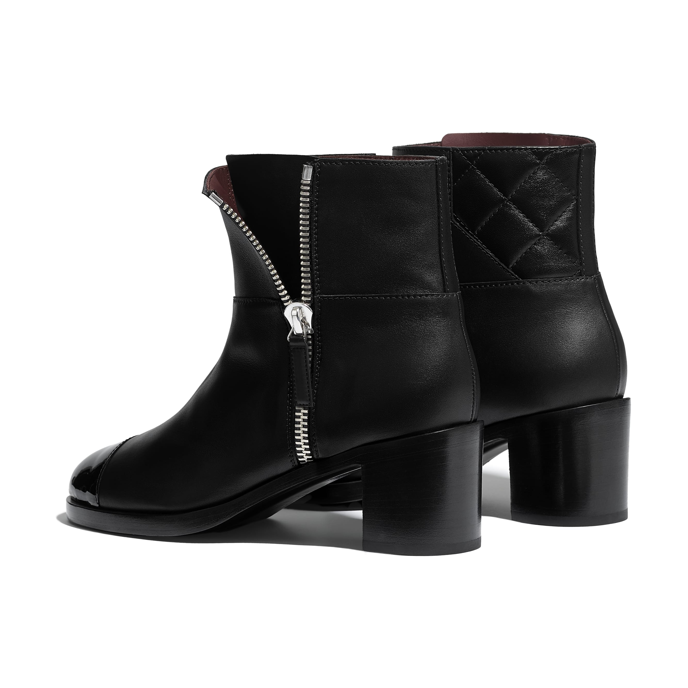Ankle Boots - Black - Calfskin & Patent Calfskin - Other view - see standard sized version