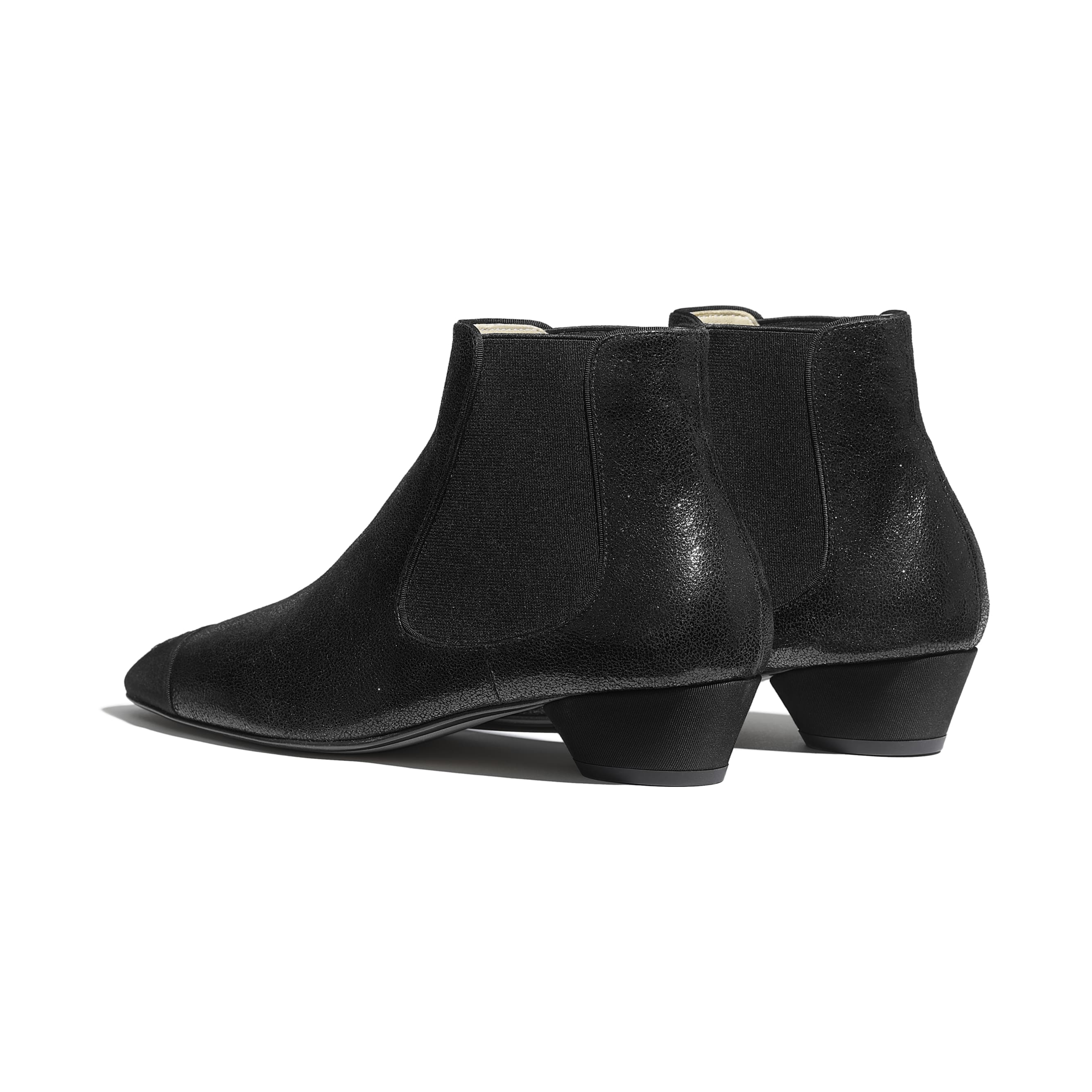 Ankle Boots - Black - Goatskin & Grosgrain - Other view - see standard sized version