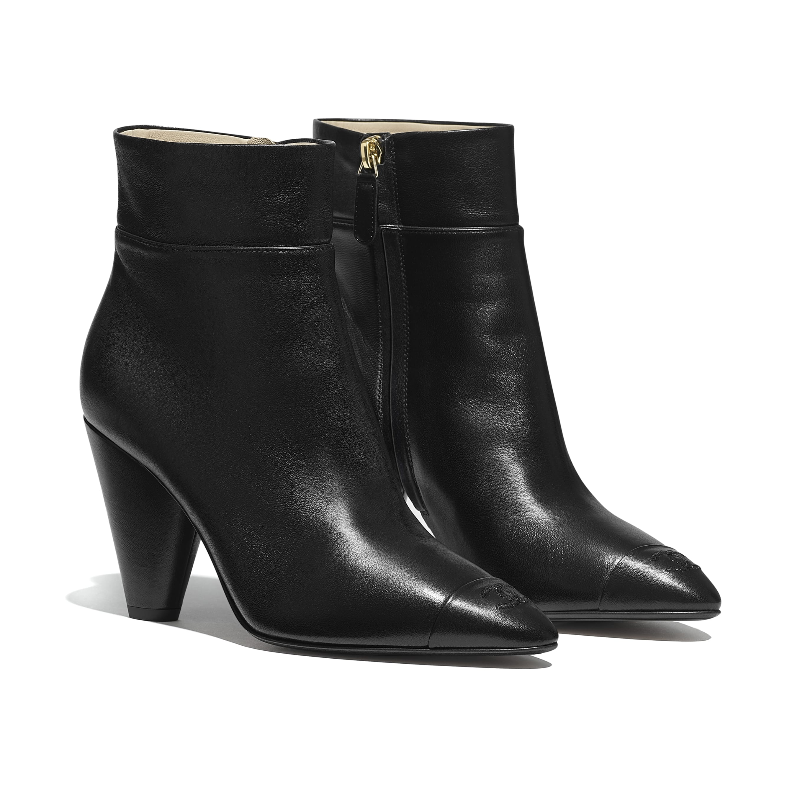 Ankle Boots - Black - Lambskin - Alternative view - see standard sized version