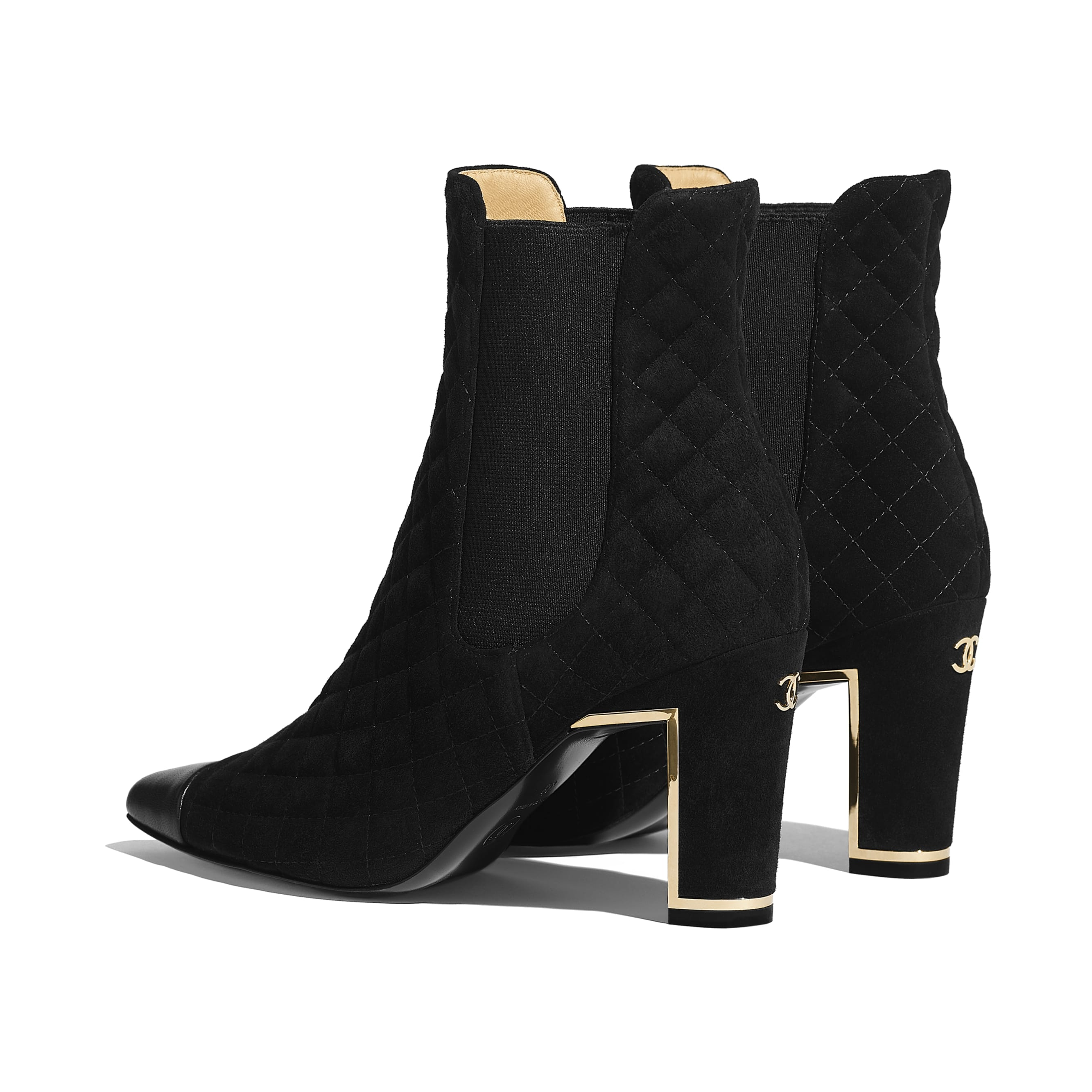 Ankle Boots - Black - Suede Calfskin & Lambskin - Other view - see standard sized version
