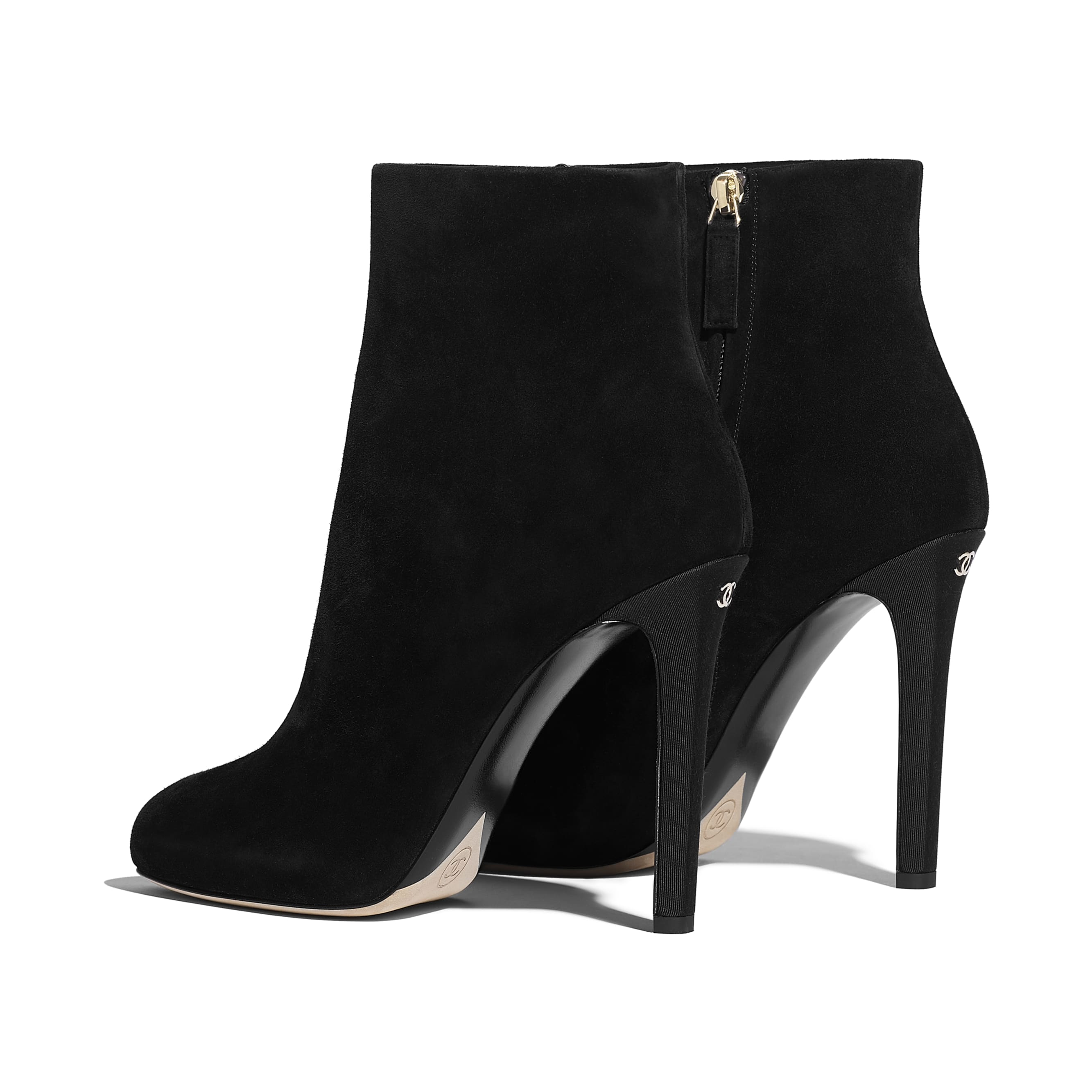 Ankle Boots - Black - Suede Calfskin - Other view - see standard sized version