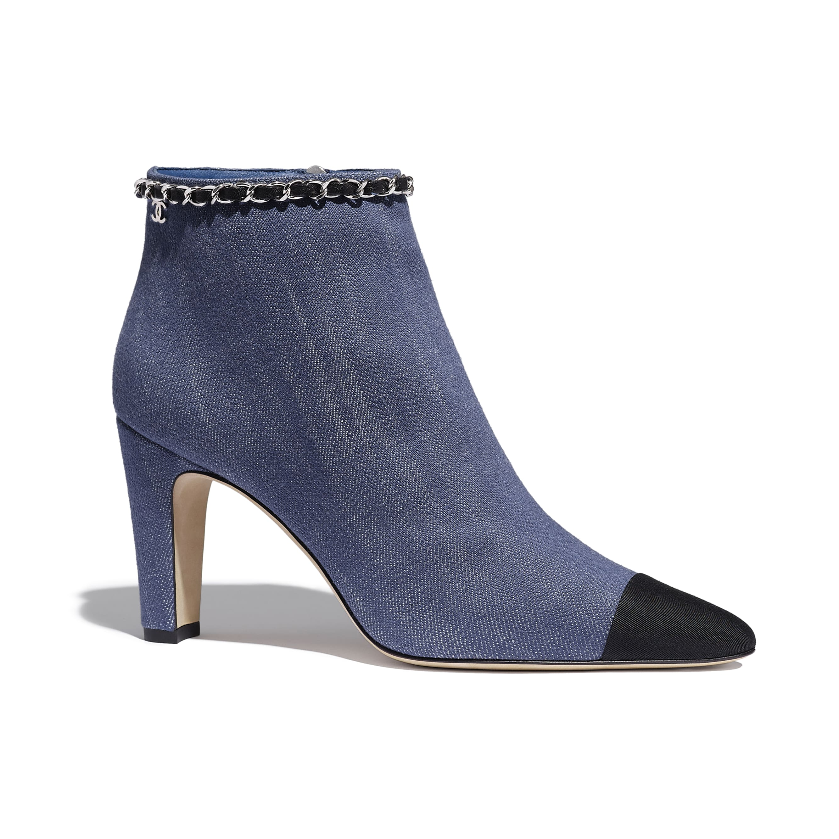 Ankle Boots - Blue & Black - Fabric - Default view - see standard sized version