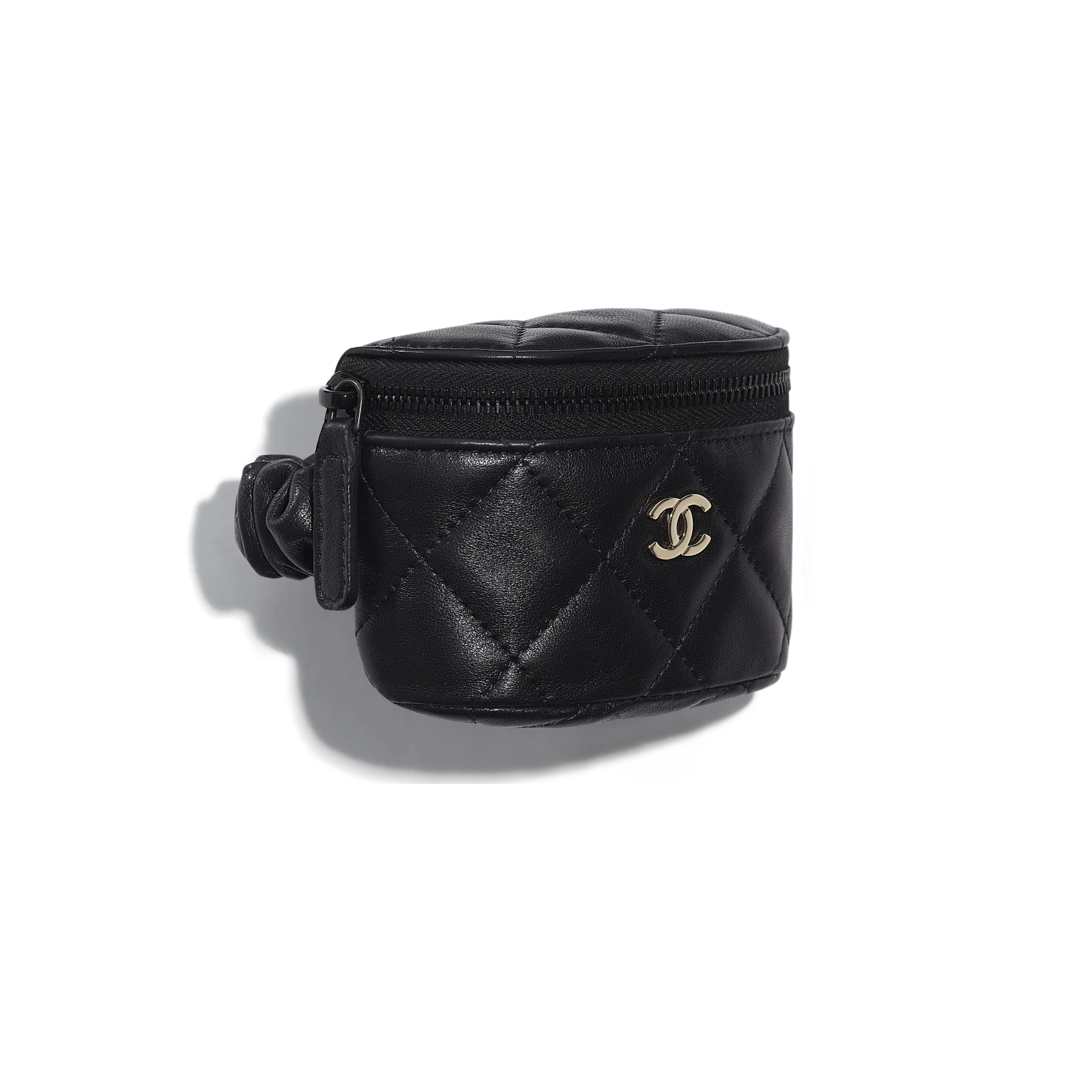 Arm Coin Purse - Black - Lambskin - CHANEL - Default view - see standard sized version