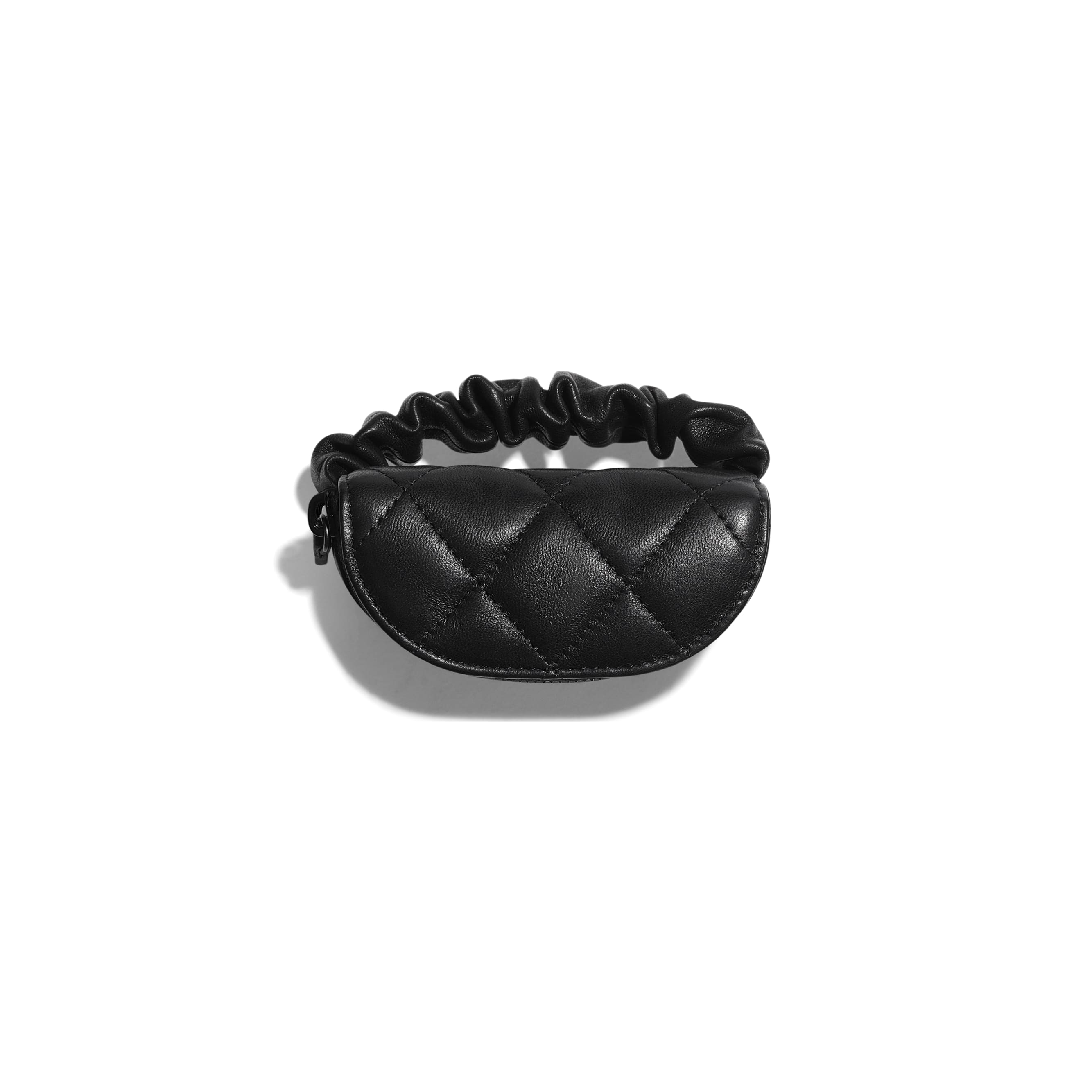 Arm Coin Purse - Black - Lambskin - CHANEL - Other view - see standard sized version