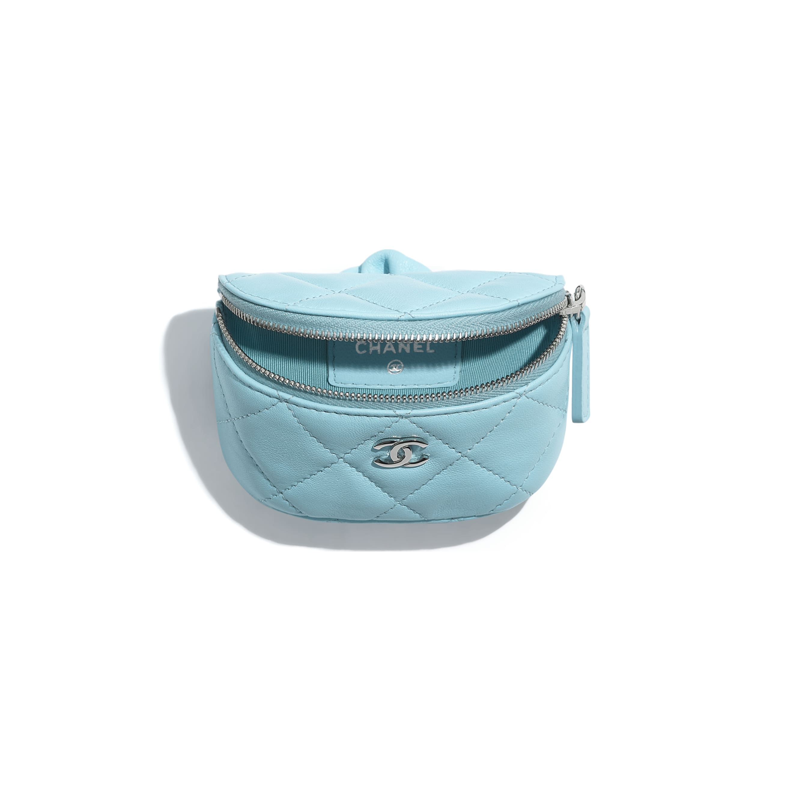 Arm Coin Purse - Neon Blue - Lambskin - CHANEL - Alternative view - see standard sized version