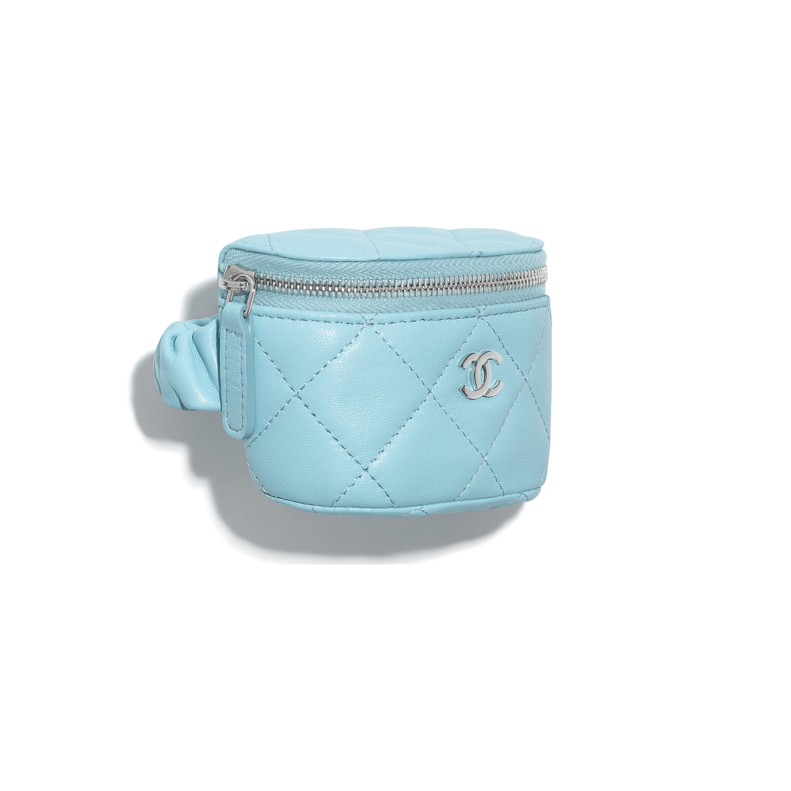 Arm Coin Purse - Neon Blue - Lambskin - CHANEL - Default view - see standard sized version