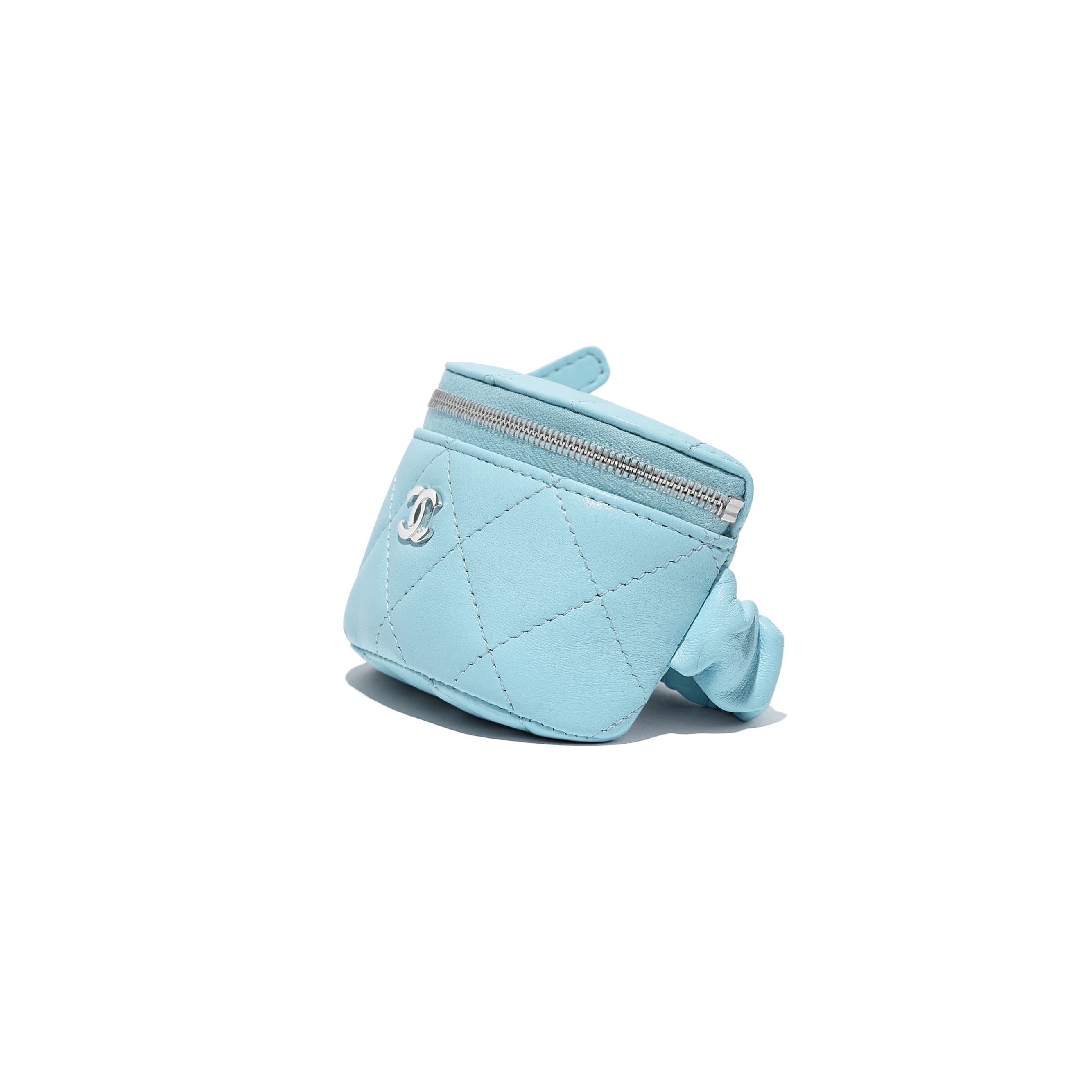 Arm Coin Purse - Neon Blue - Lambskin - CHANEL - Extra view - see standard sized version