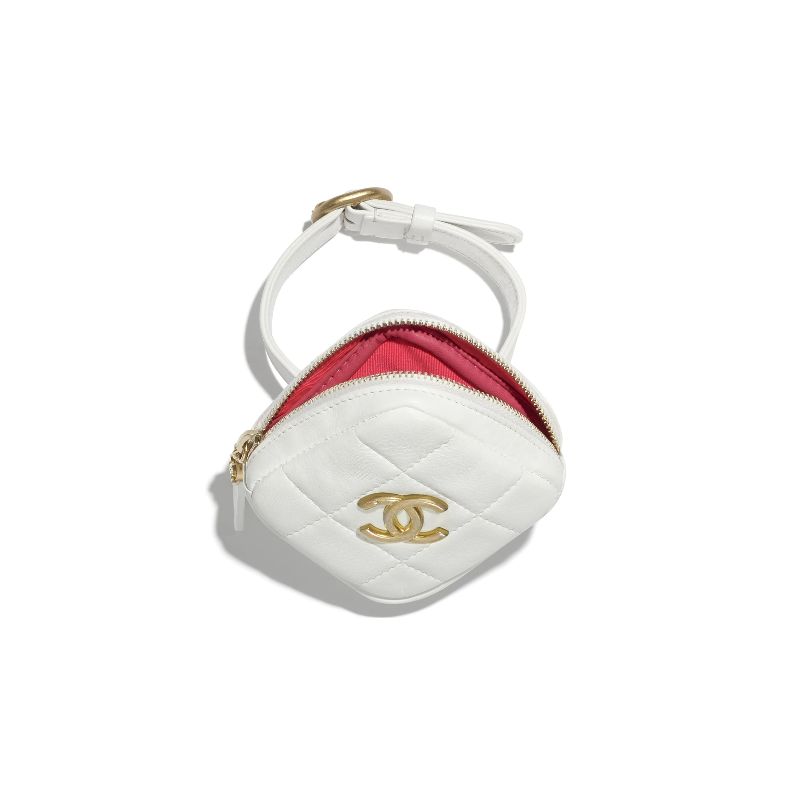 Arm Coin Purse - White - Lambskin - CHANEL - Alternative view - see standard sized version