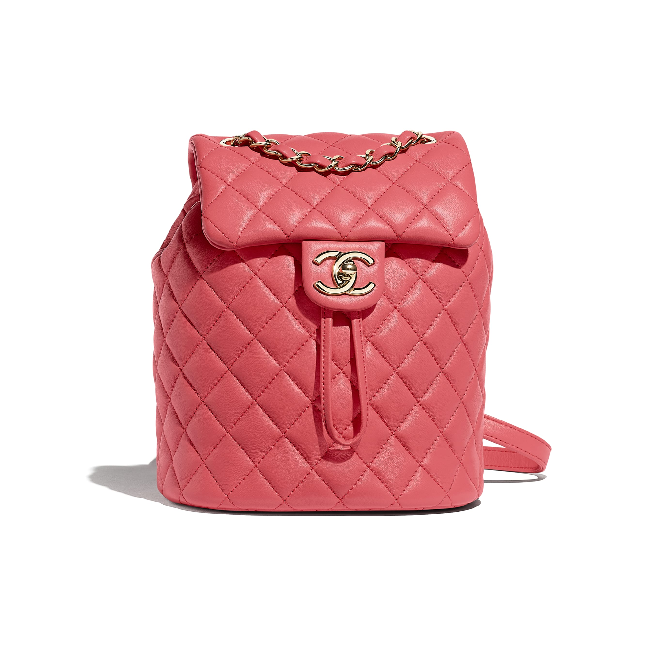 Backpack - Pink - Lambskin & Gold-Tone Metal - Default view - see standard sized version