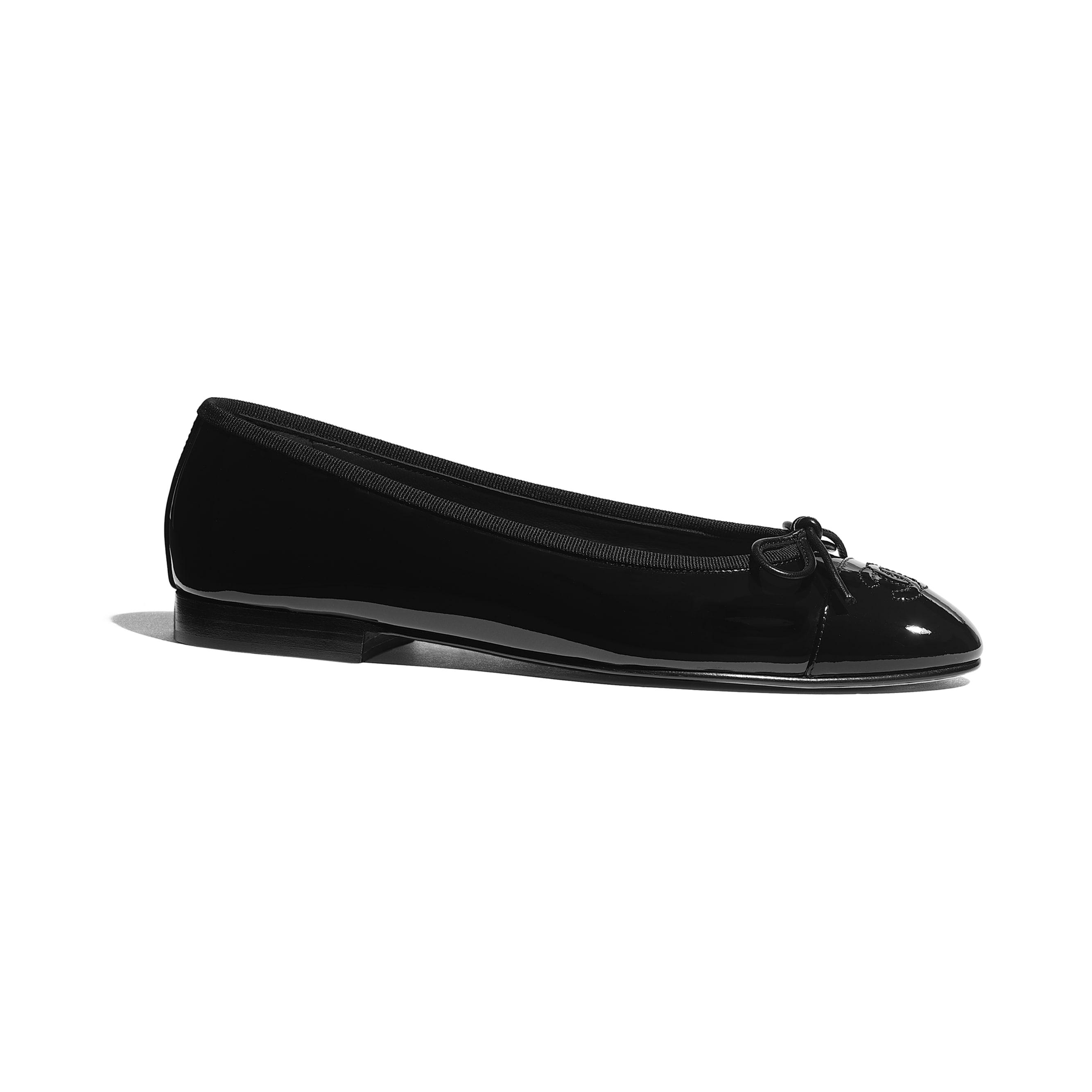 Ballerinas - Black - Patent Calfskin - CHANEL - Default view - see standard sized version