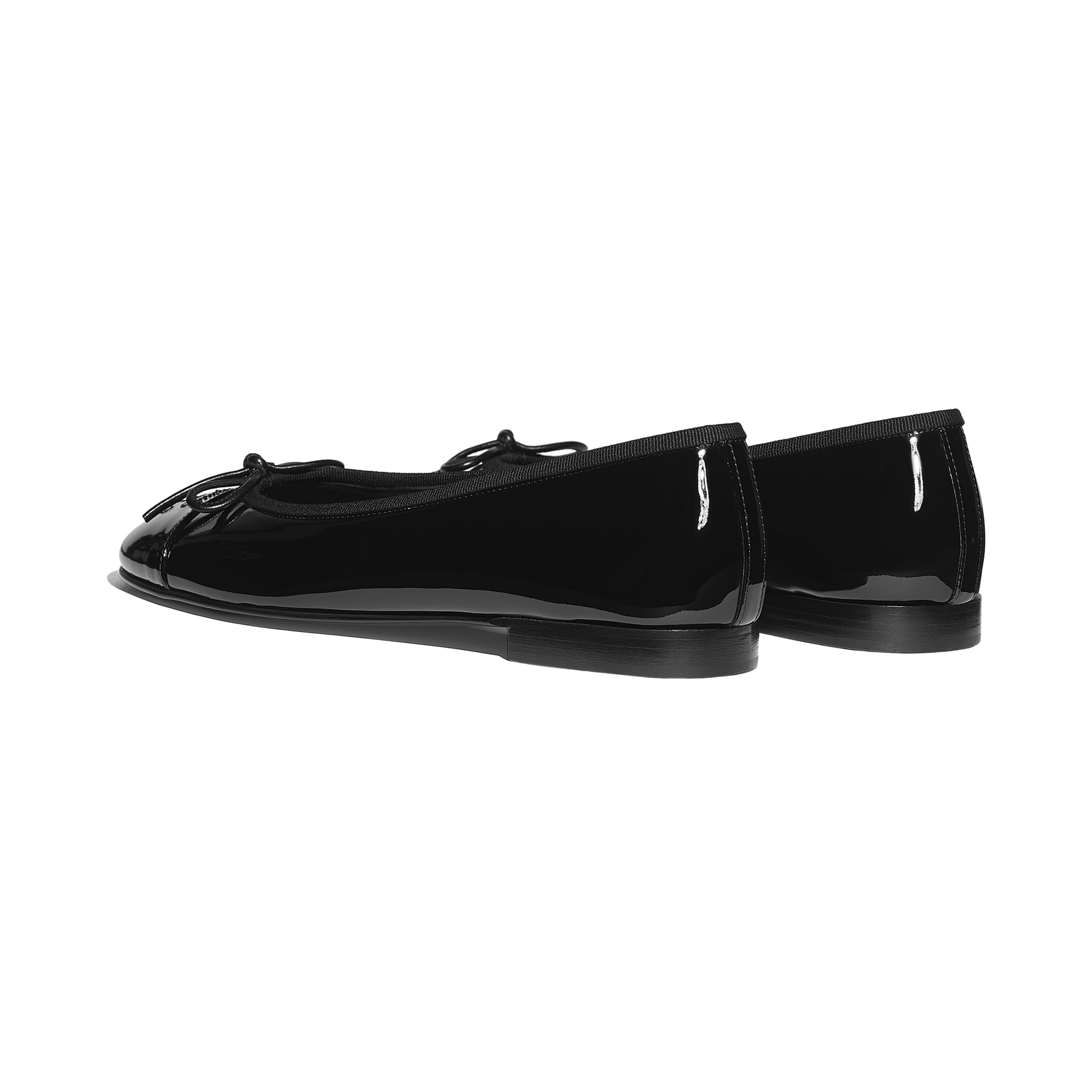 Ballerinas - Black - Patent Calfskin - CHANEL - Other view - see standard sized version