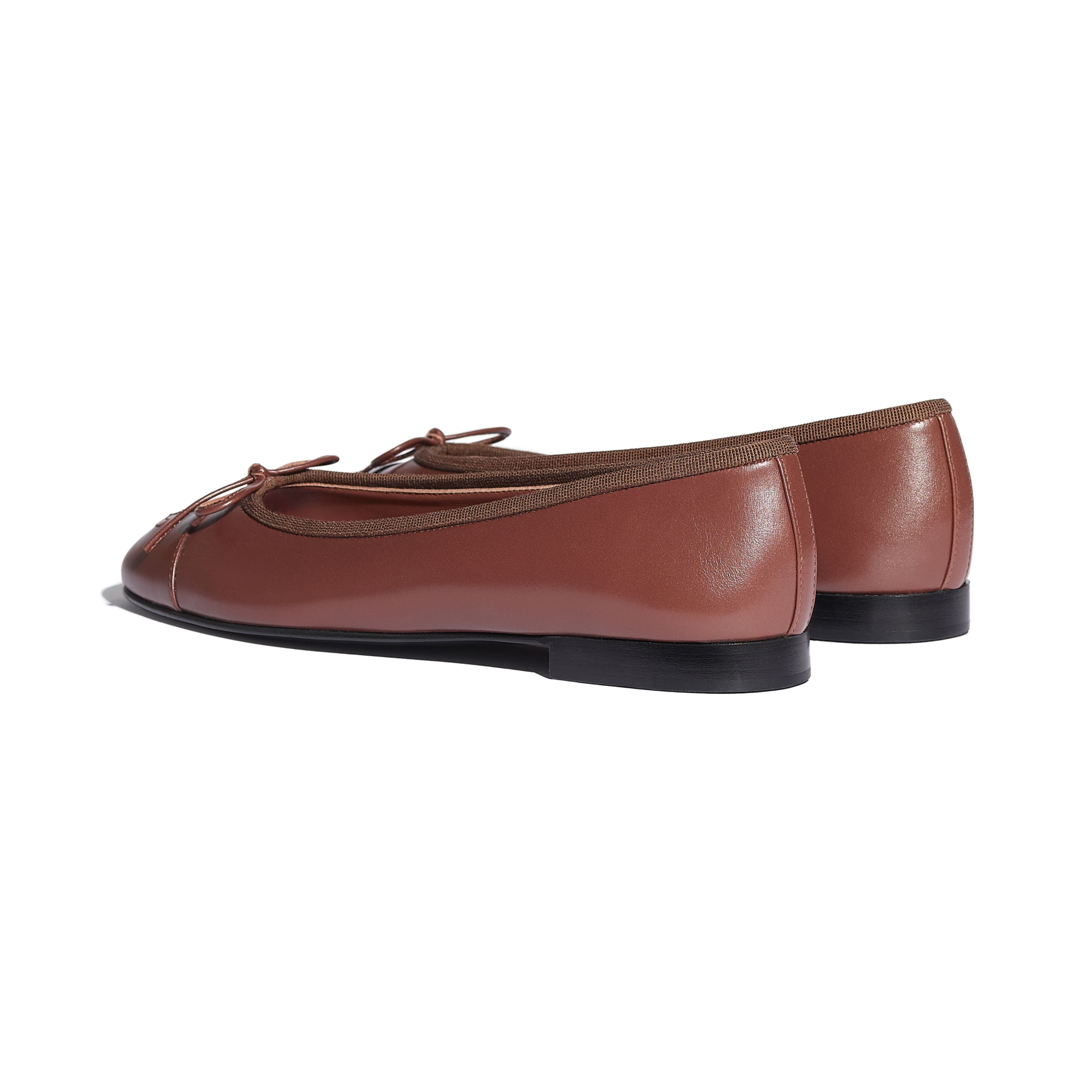 Flats - Brown - Calfskin - CHANEL - Other view - see standard sized version