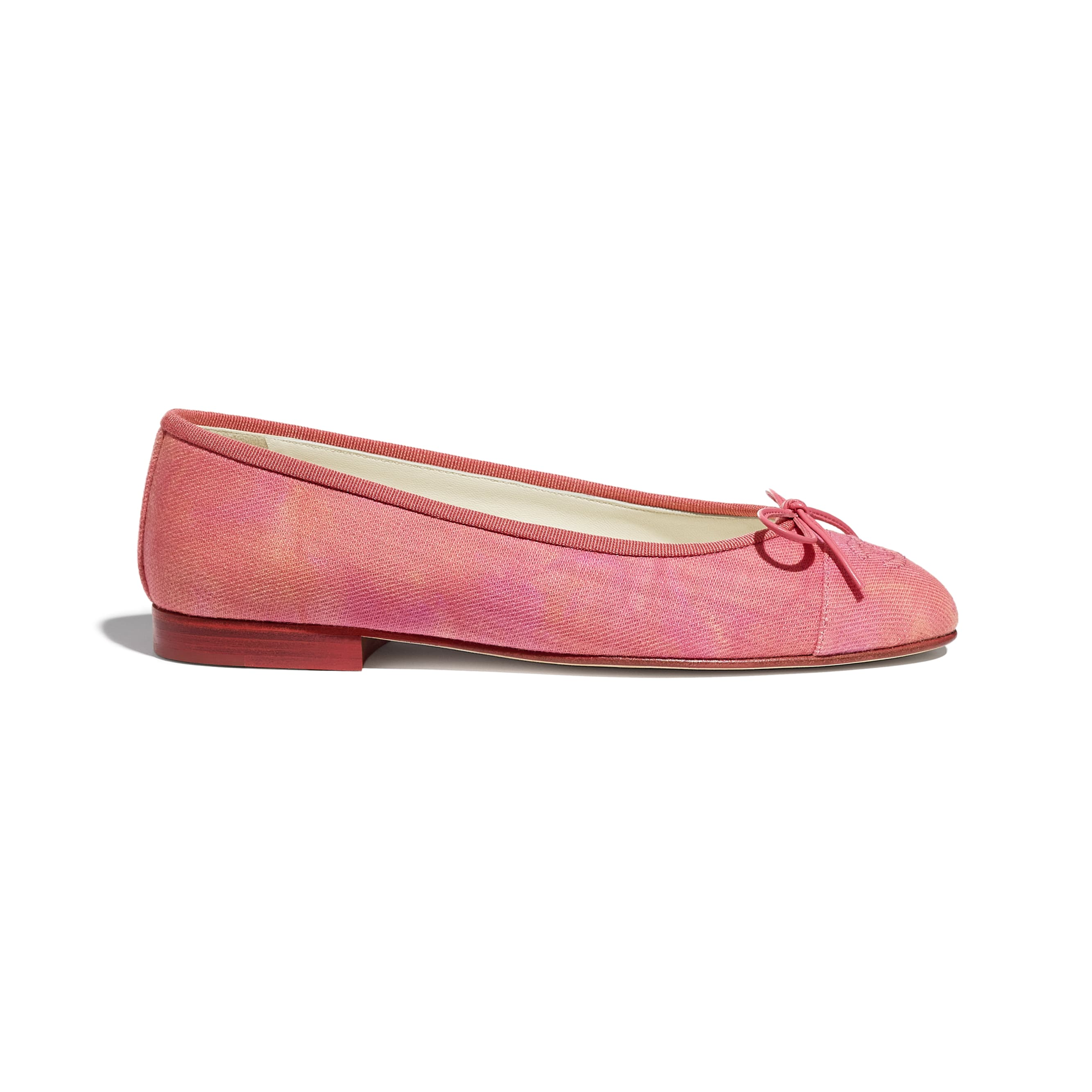 Flats - Coral, Pink & Orange - Fabric - CHANEL - Default view - see standard sized version