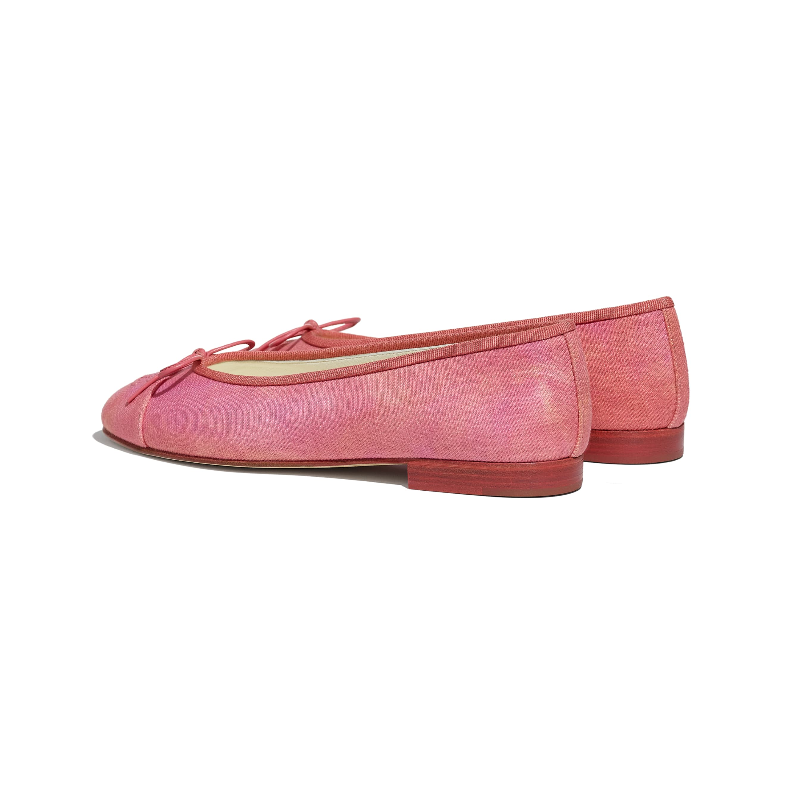 Flats - Coral, Pink & Orange - Fabric - CHANEL - Other view - see standard sized version