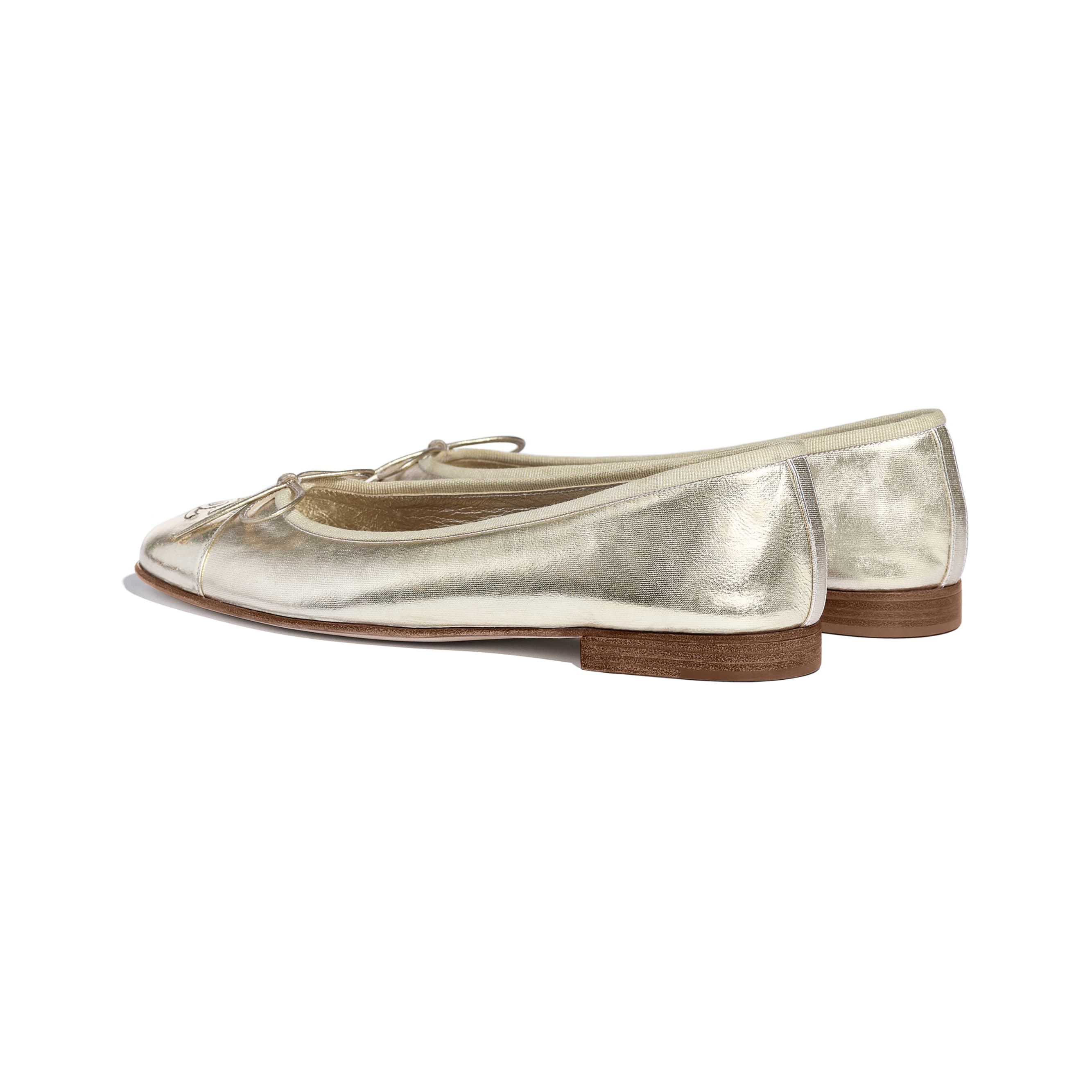 Flats - Gold - Metallic Goatskin - CHANEL - Other view - see standard sized version