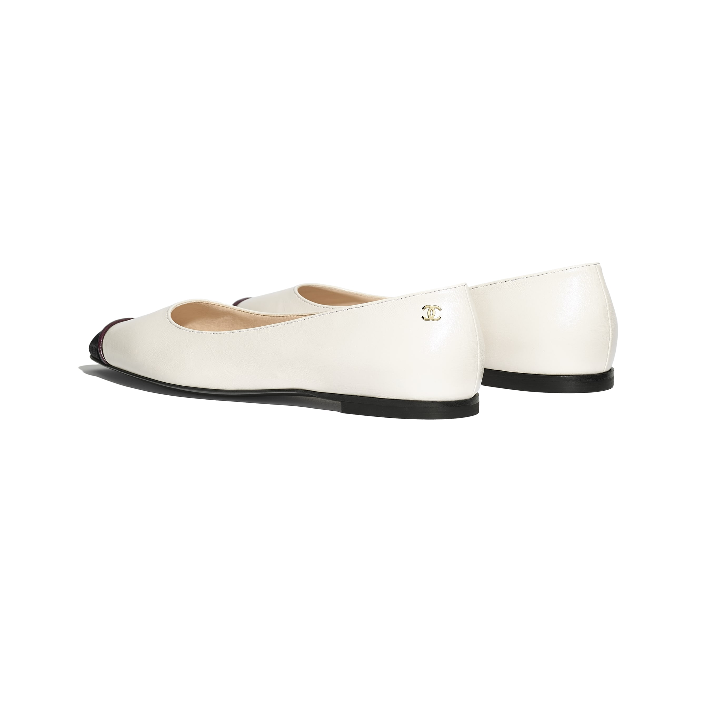 Ballerinas - Ivory & Black - Goatskin - CHANEL - Other view - see standard sized version