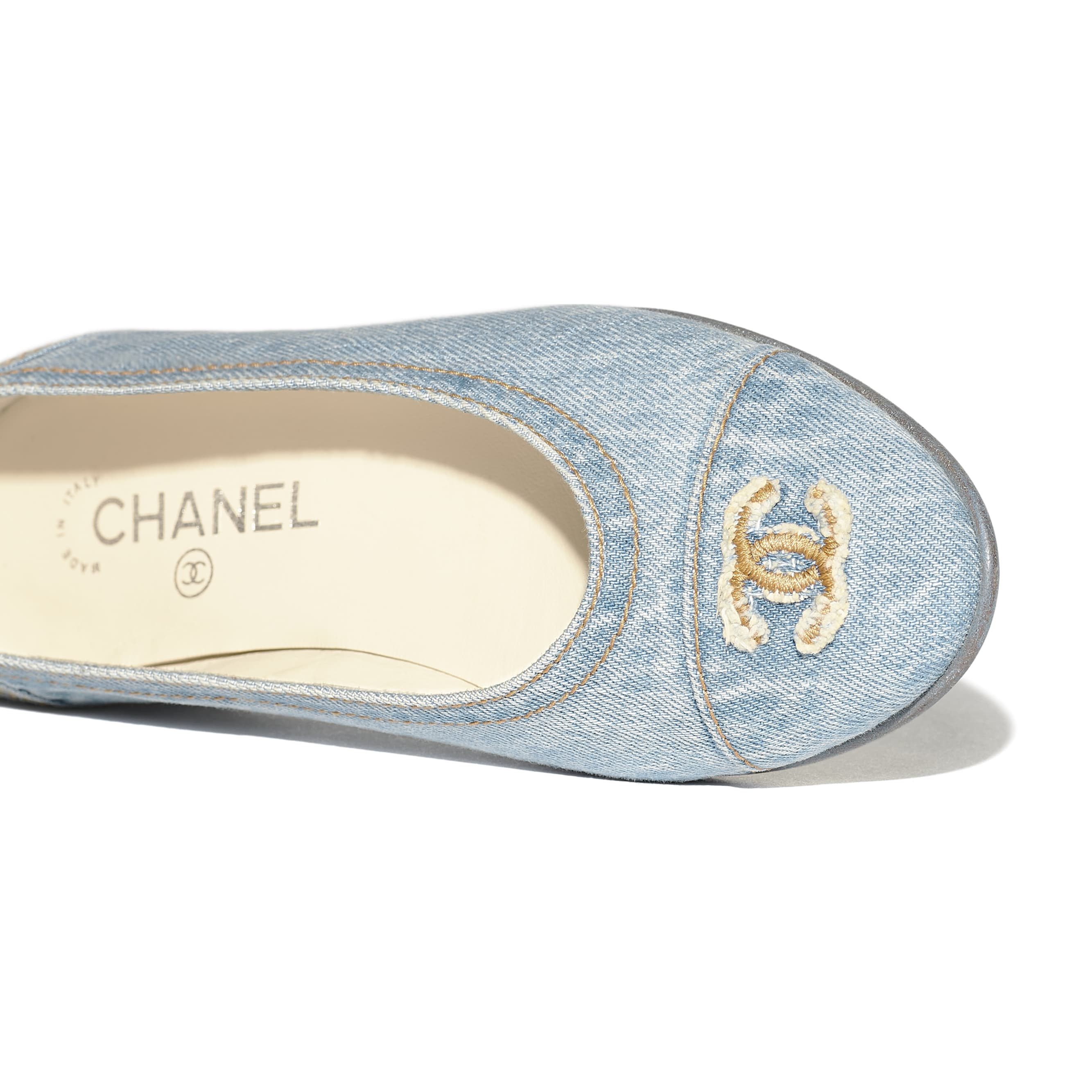 Flats - Light Blue - Denim - Extra view - see standard sized version