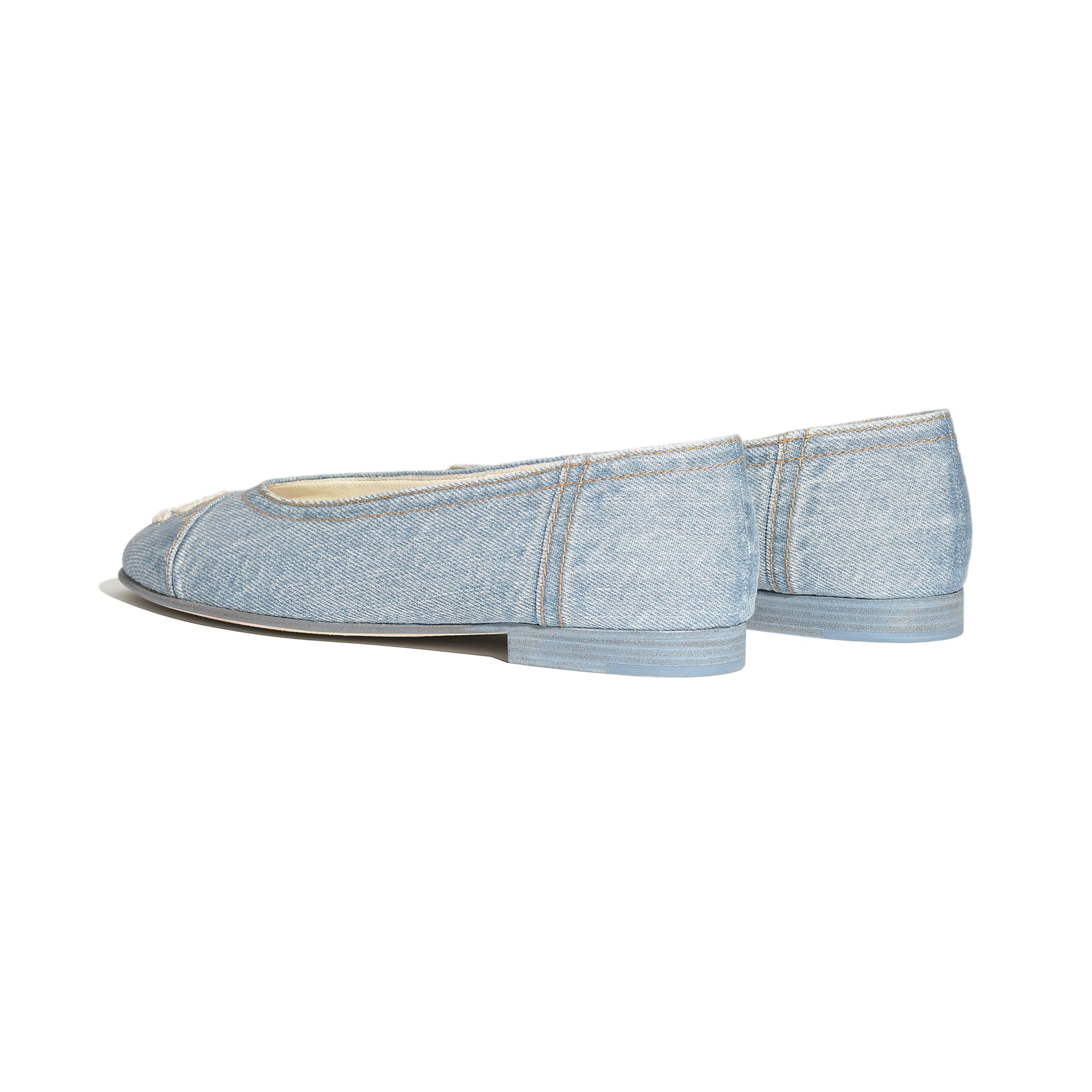 Flats - Light Blue - Denim - Other view - see standard sized version
