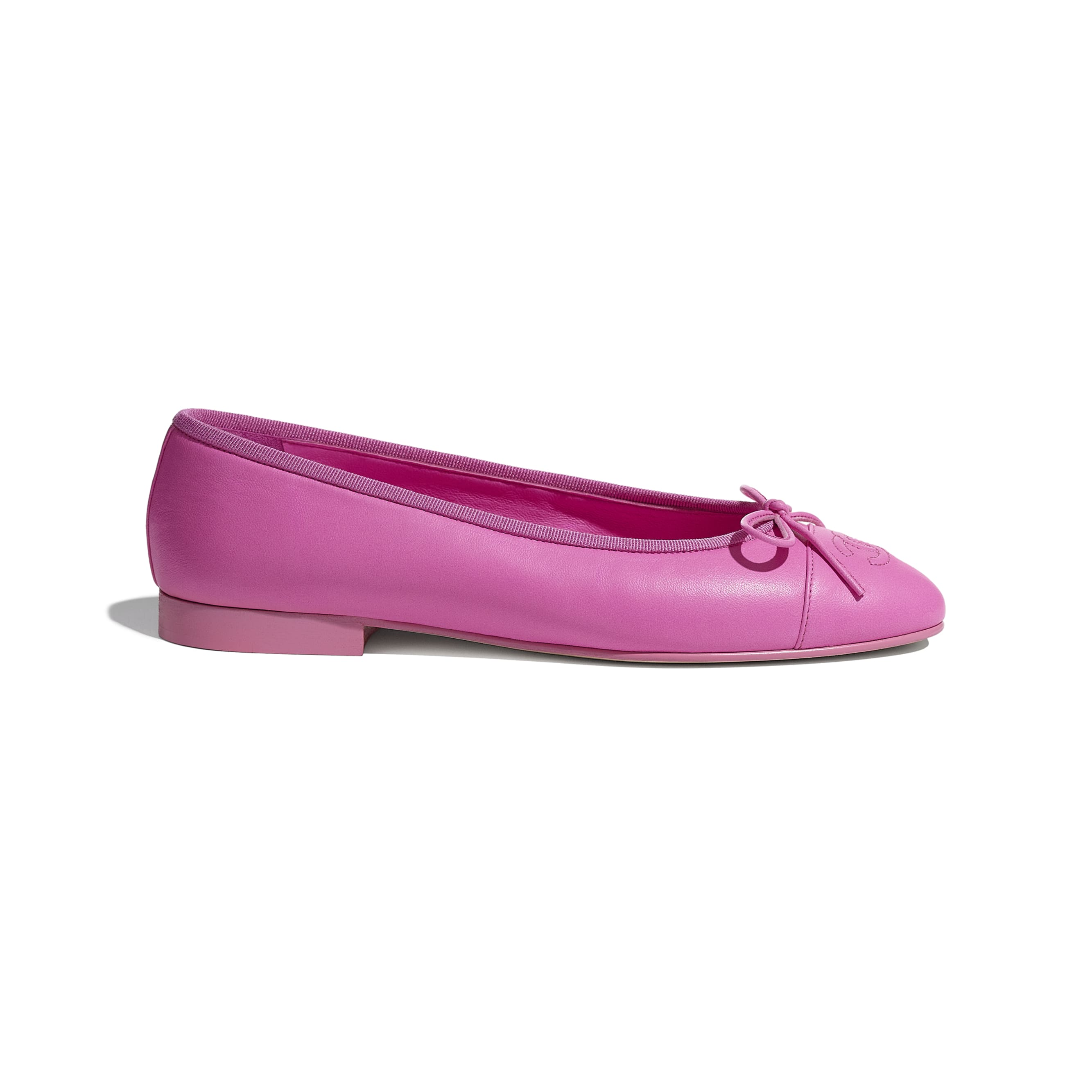 Flats - Neon Pink - Lambskin - CHANEL - Default view - see standard sized version