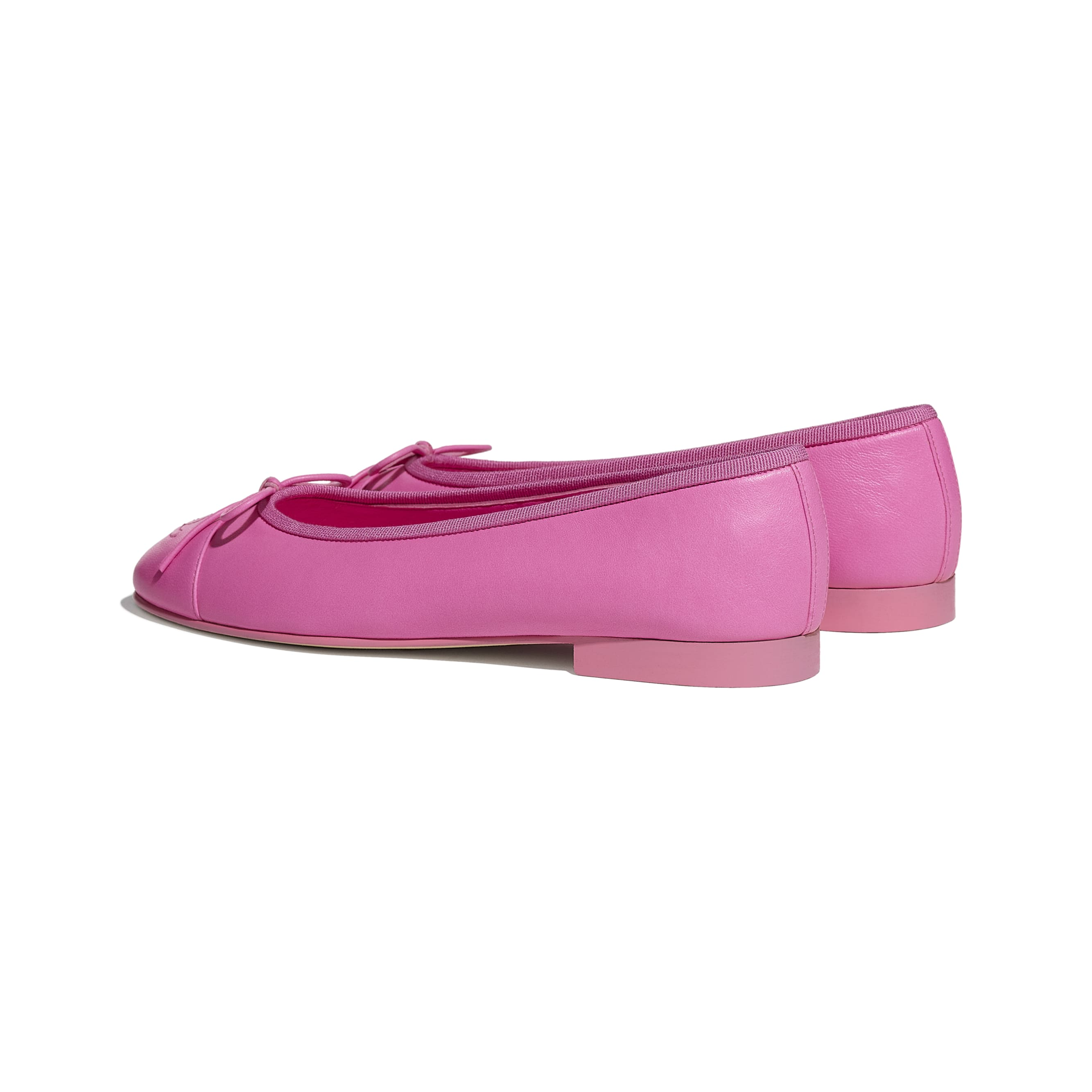 Flats - Neon Pink - Lambskin - CHANEL - Other view - see standard sized version