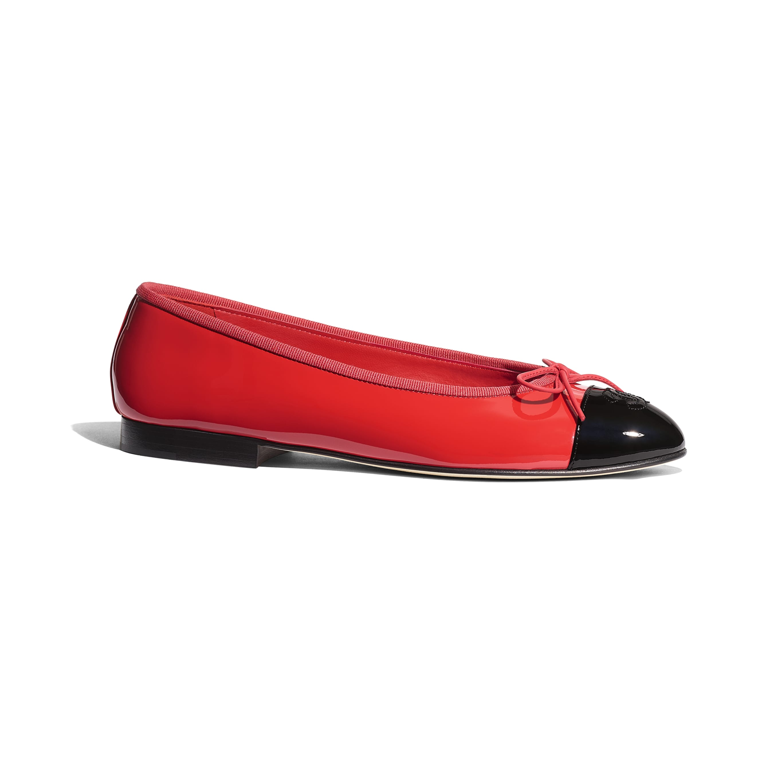 Flats - Red & Black - Patent Calfskin - Default view - see standard sized version