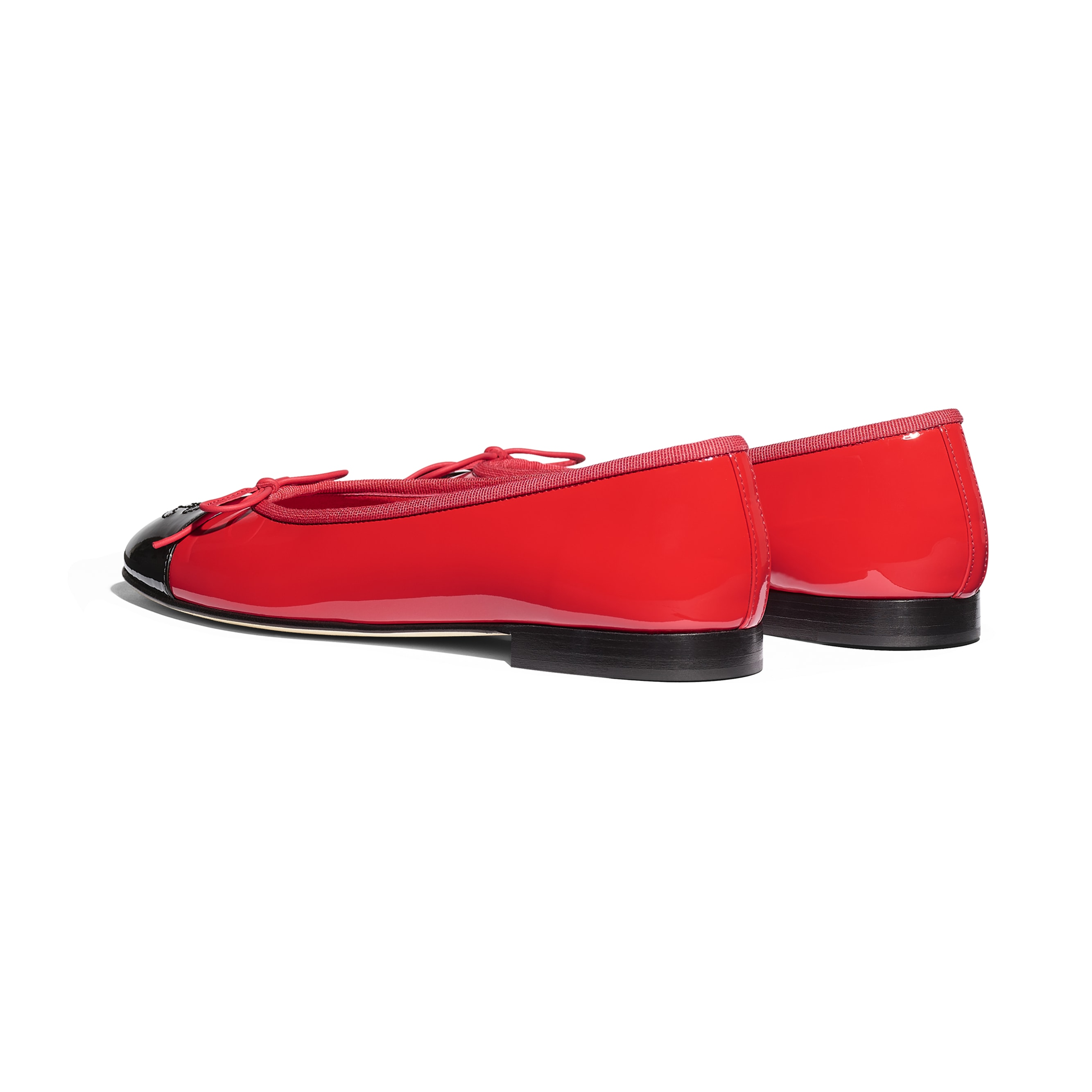 Flats - Red & Black - Patent Calfskin - Other view - see standard sized version