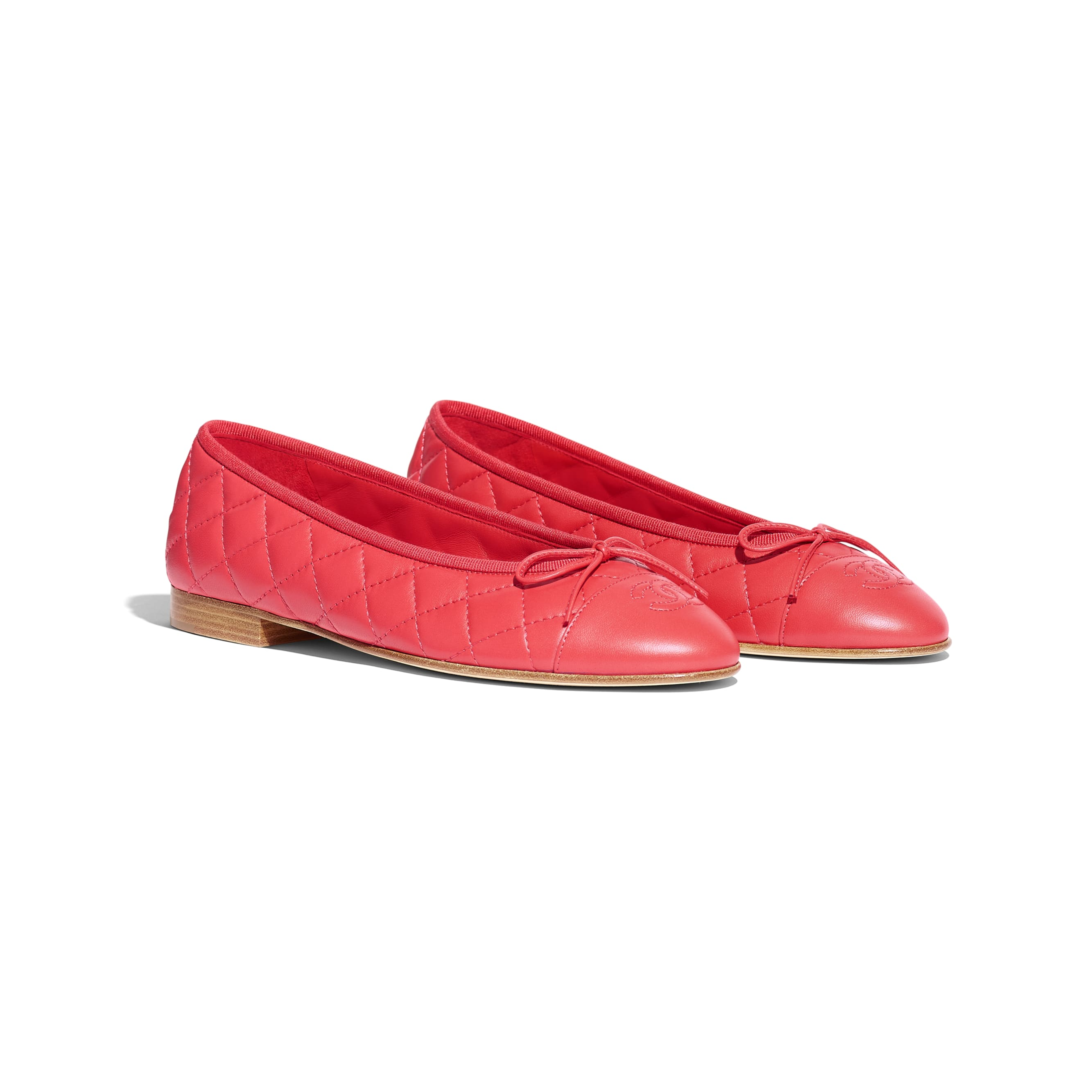 Ballerinas - Red - Lambskin - Alternative view - see standard sized version