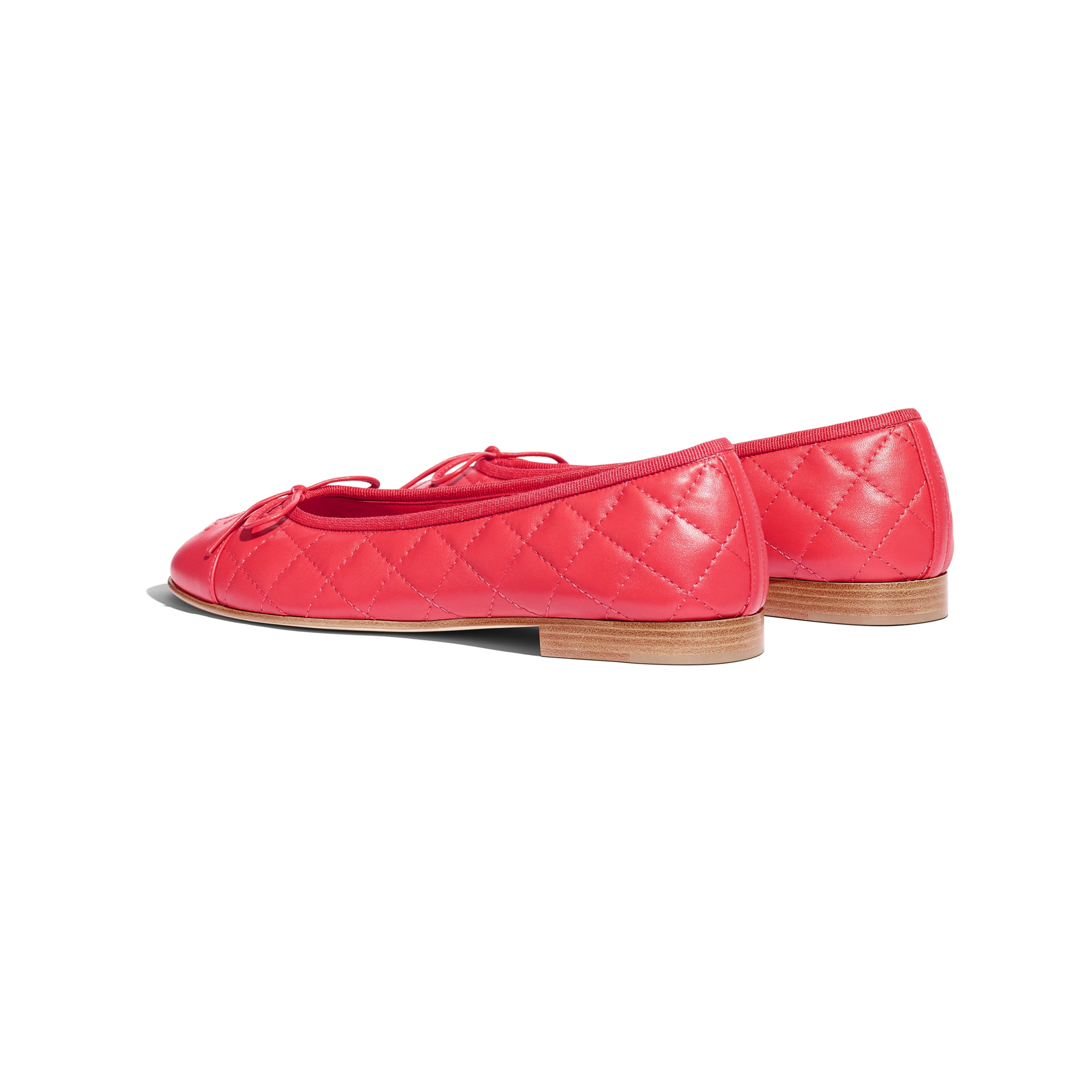 Ballerinas - Red - Lambskin - Other view - see standard sized version