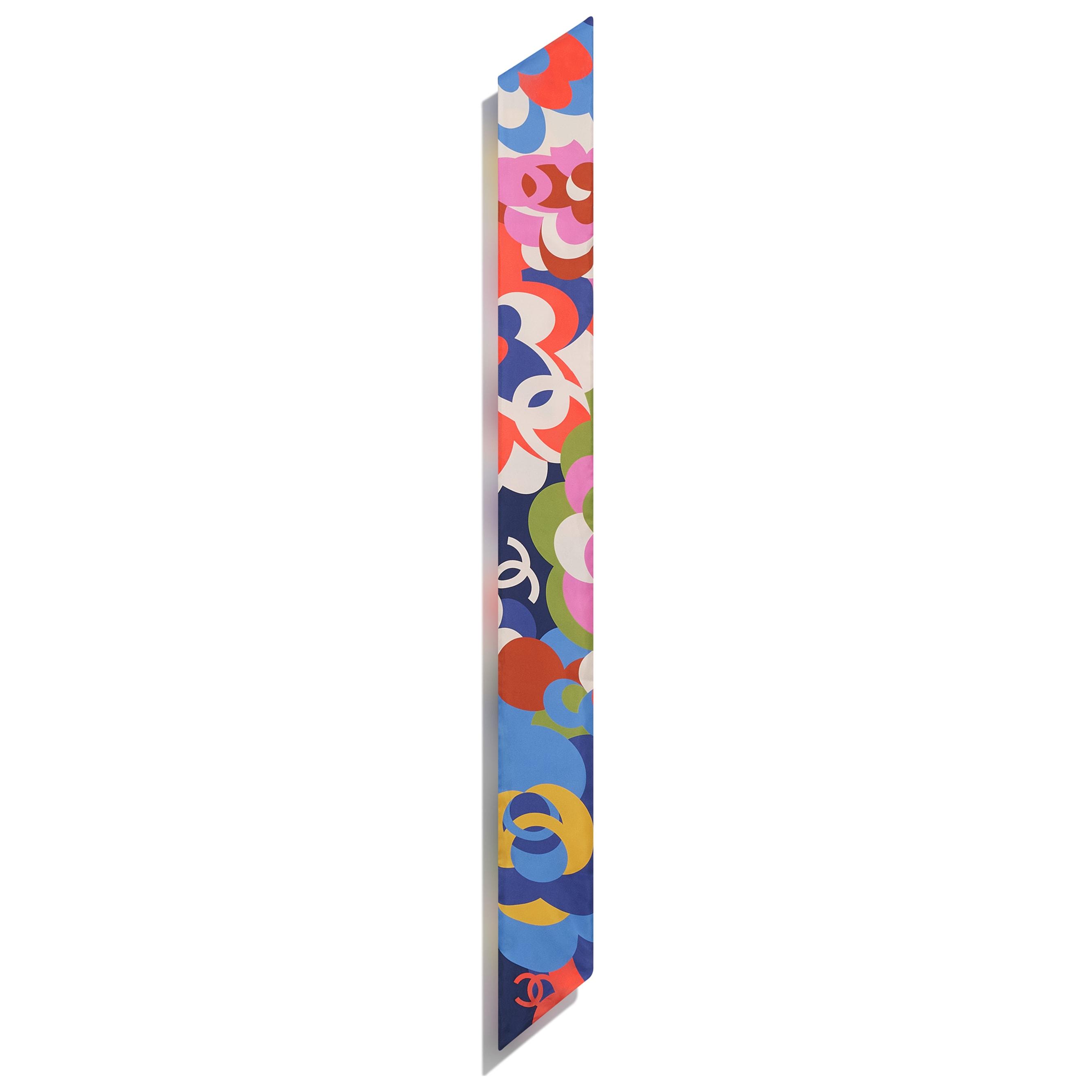 Cerchietto - Nero, blu & multicolor - Twill di seta - CHANEL - Altra immagine - vedere versione standard