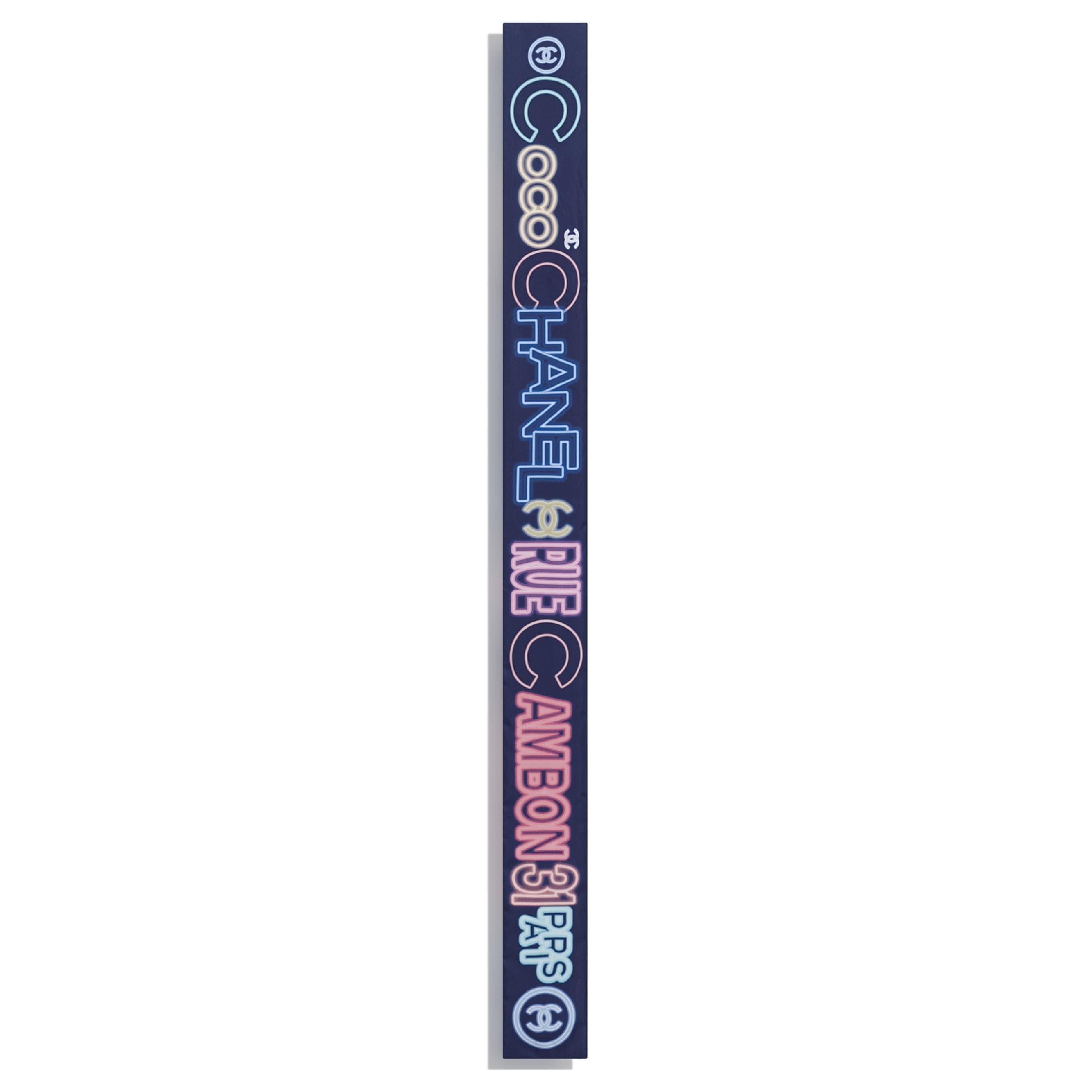 Bandeau - Bleu marine & multicolore - Twill de soie - CHANEL - Vue alternative - voir la version taille standard