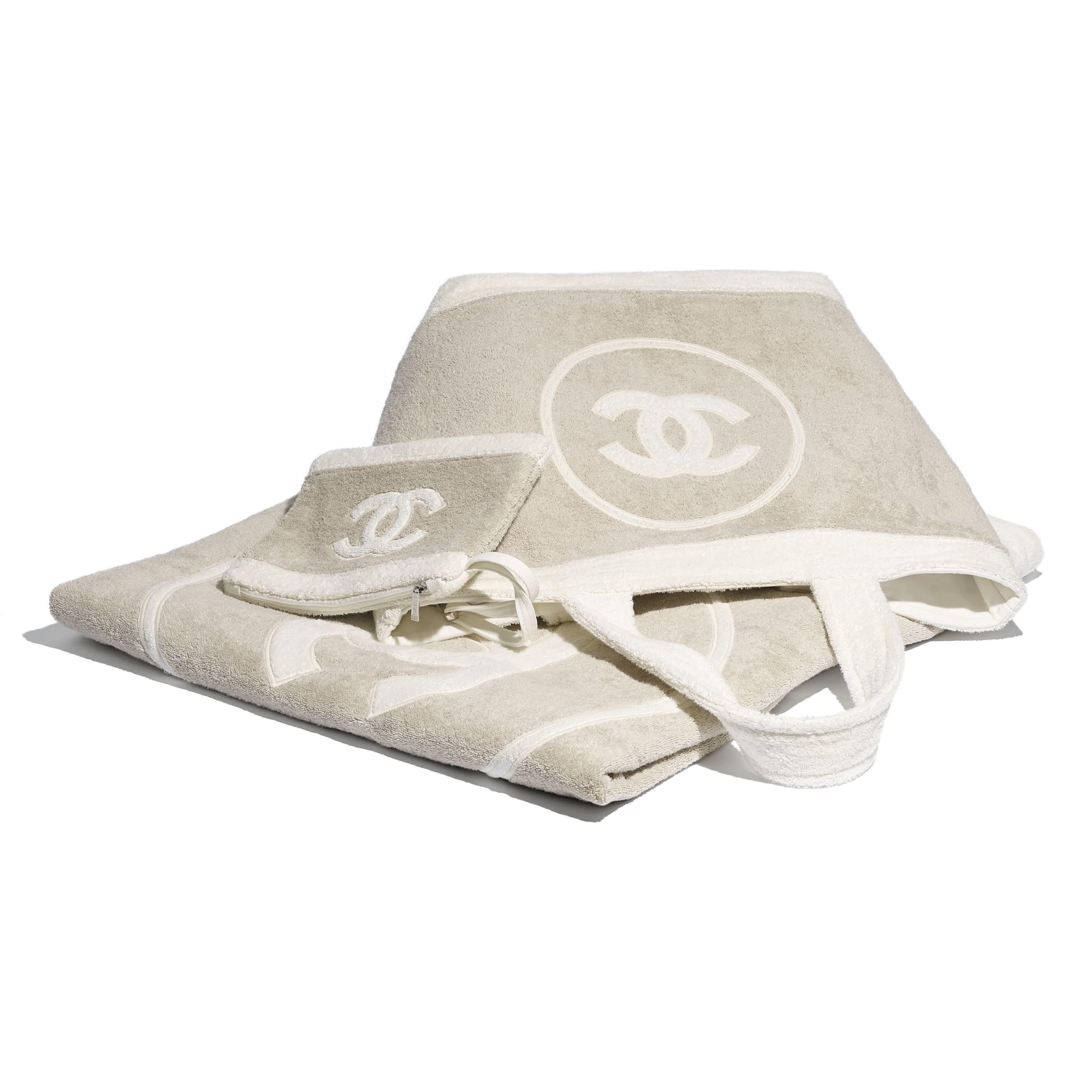 Beachwear Set - Beige & White - Cotton - CHANEL - Alternative view - see standard sized version
