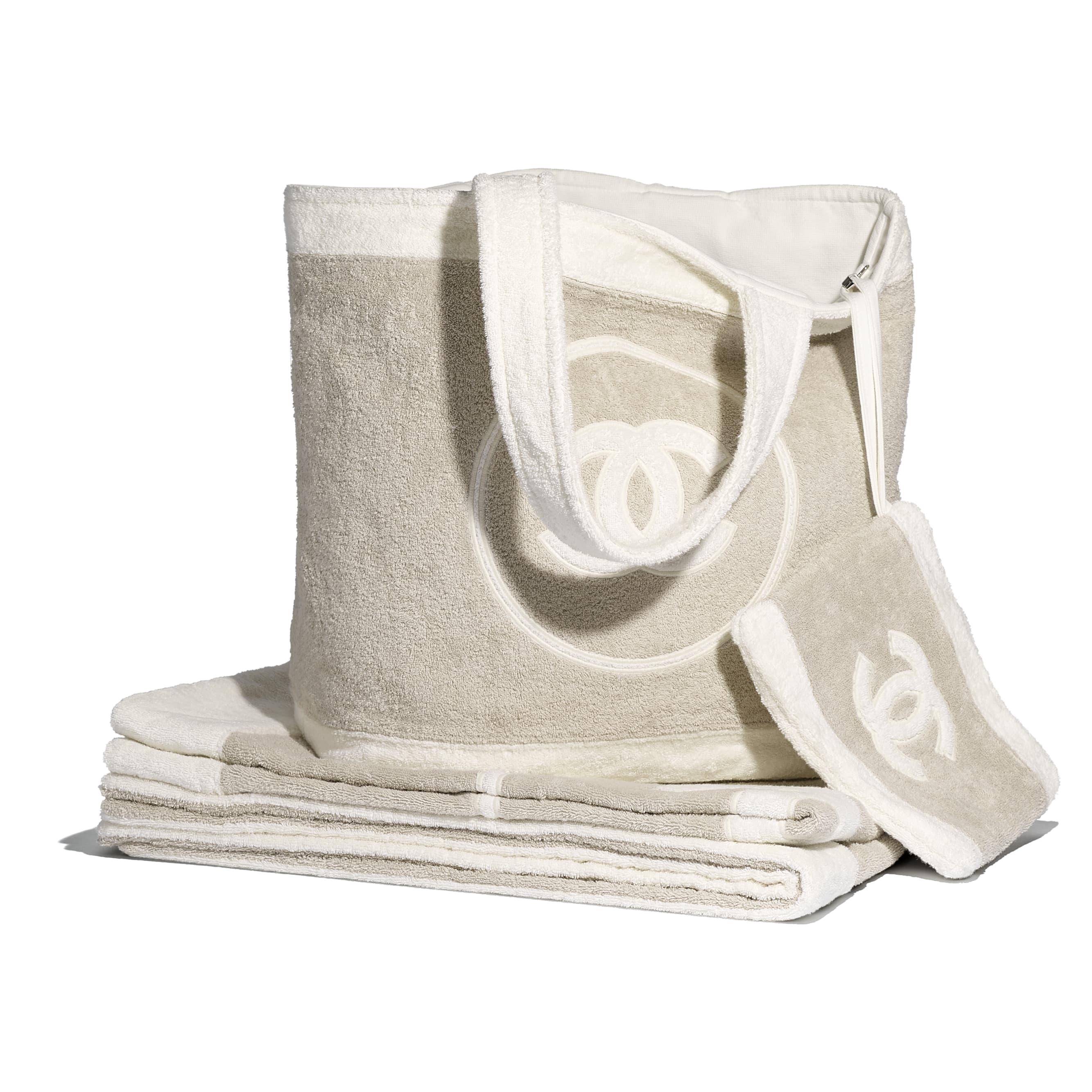 Beachwear Set - Beige & White - Cotton - CHANEL - Default view - see standard sized version