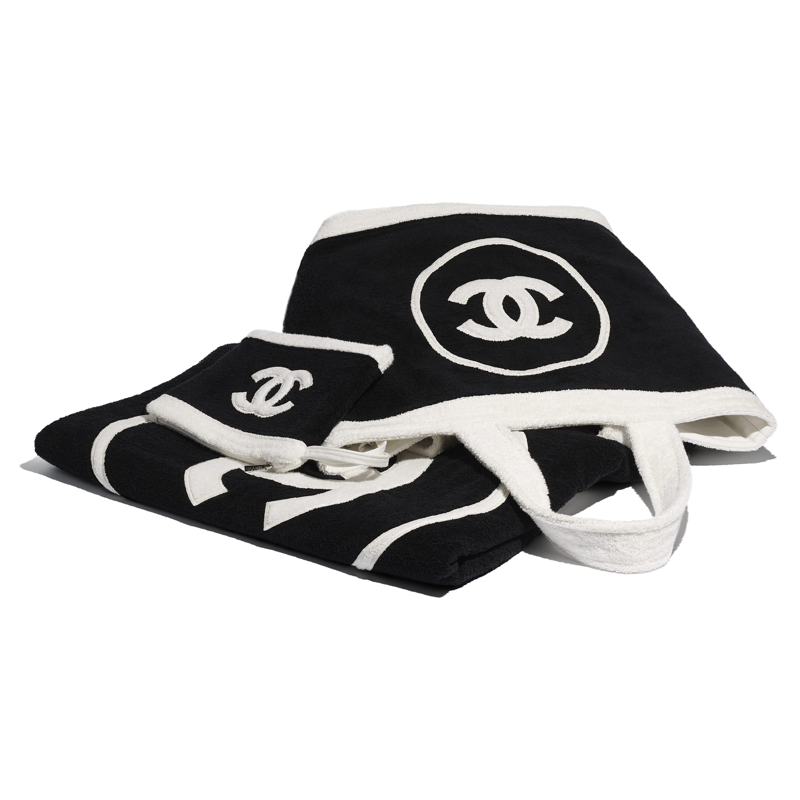 Beachwear Set - Black & White - Cotton - CHANEL - Alternative view - see standard sized version