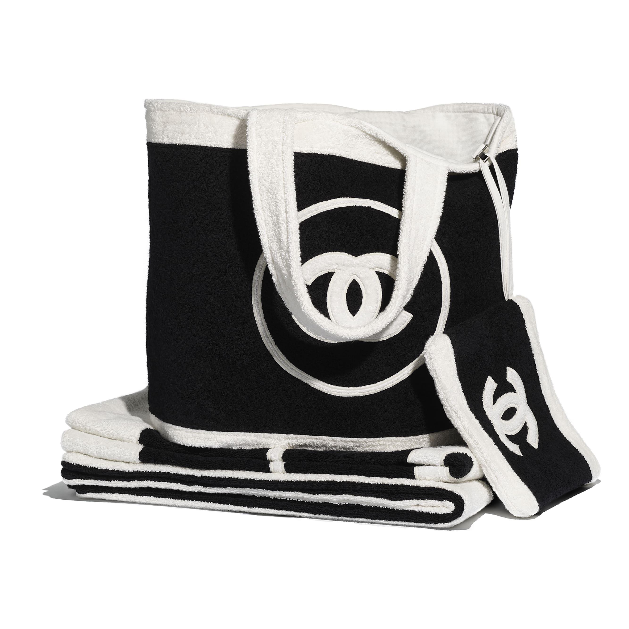 Beachwear Set - Black & White - Cotton - CHANEL - Default view - see standard sized version