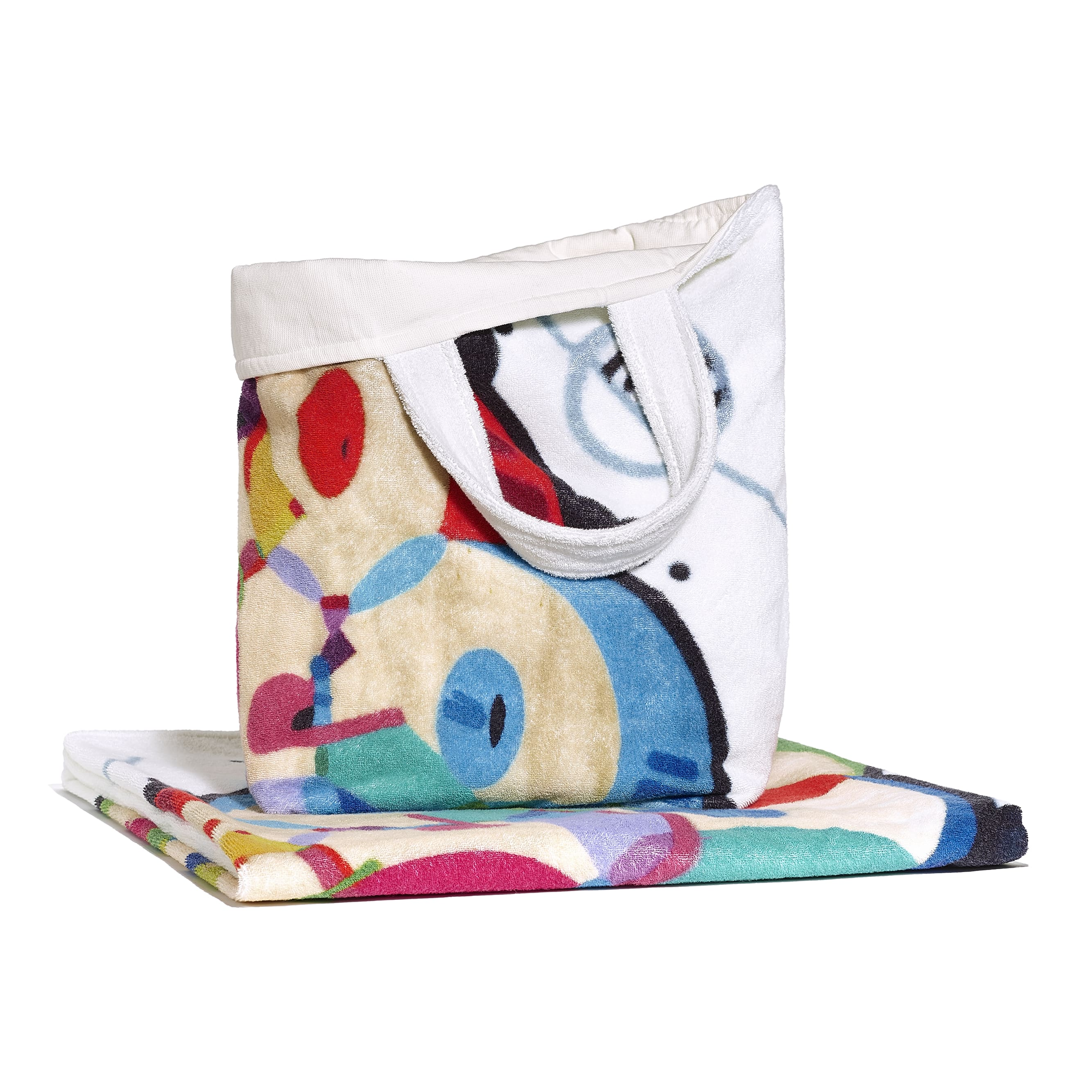 Beachwear Set - Ivory & Multicolour - Cotton - Default view - see standard sized version