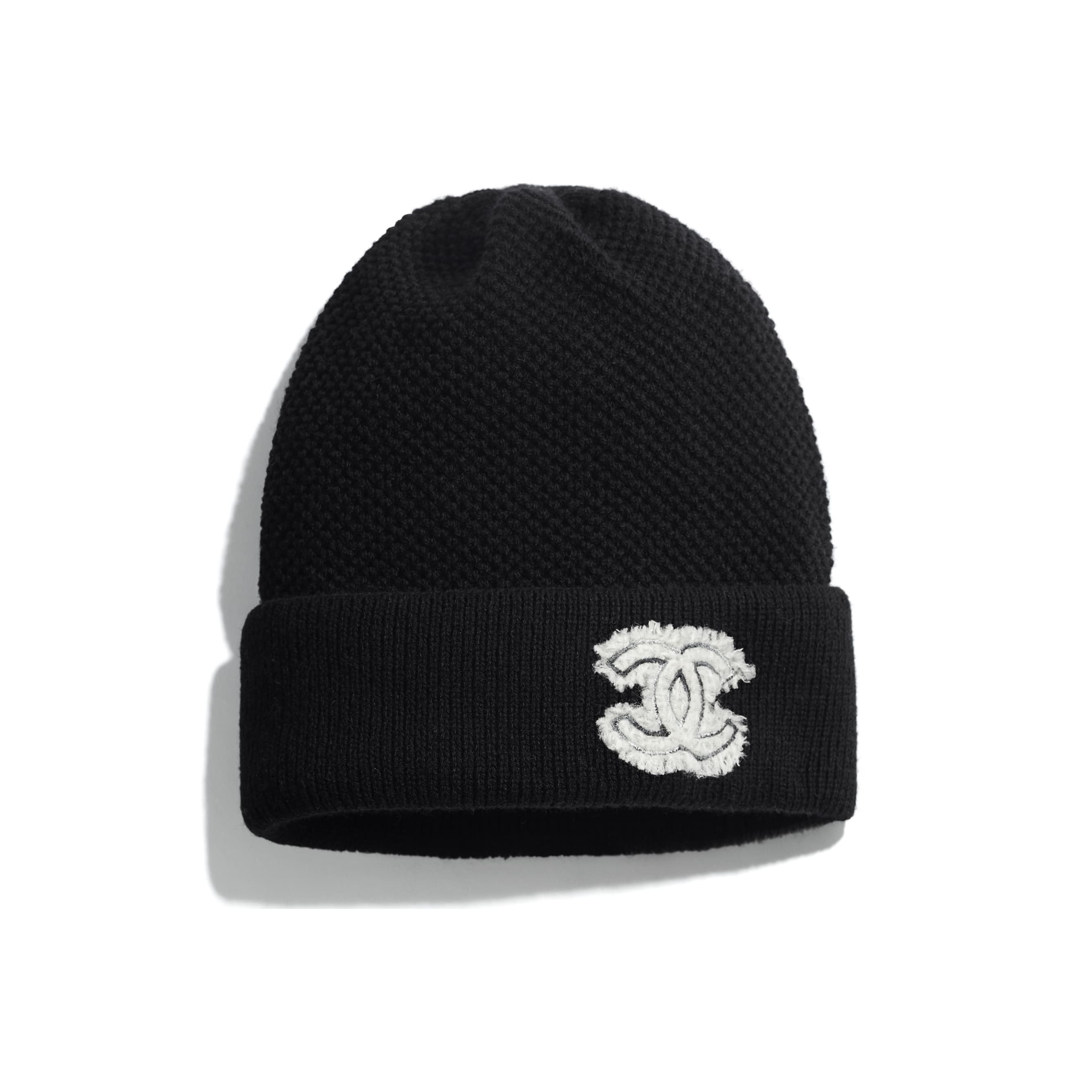 Beanie - Black - Cashmere & Tweed - CHANEL - Default view - see standard sized version