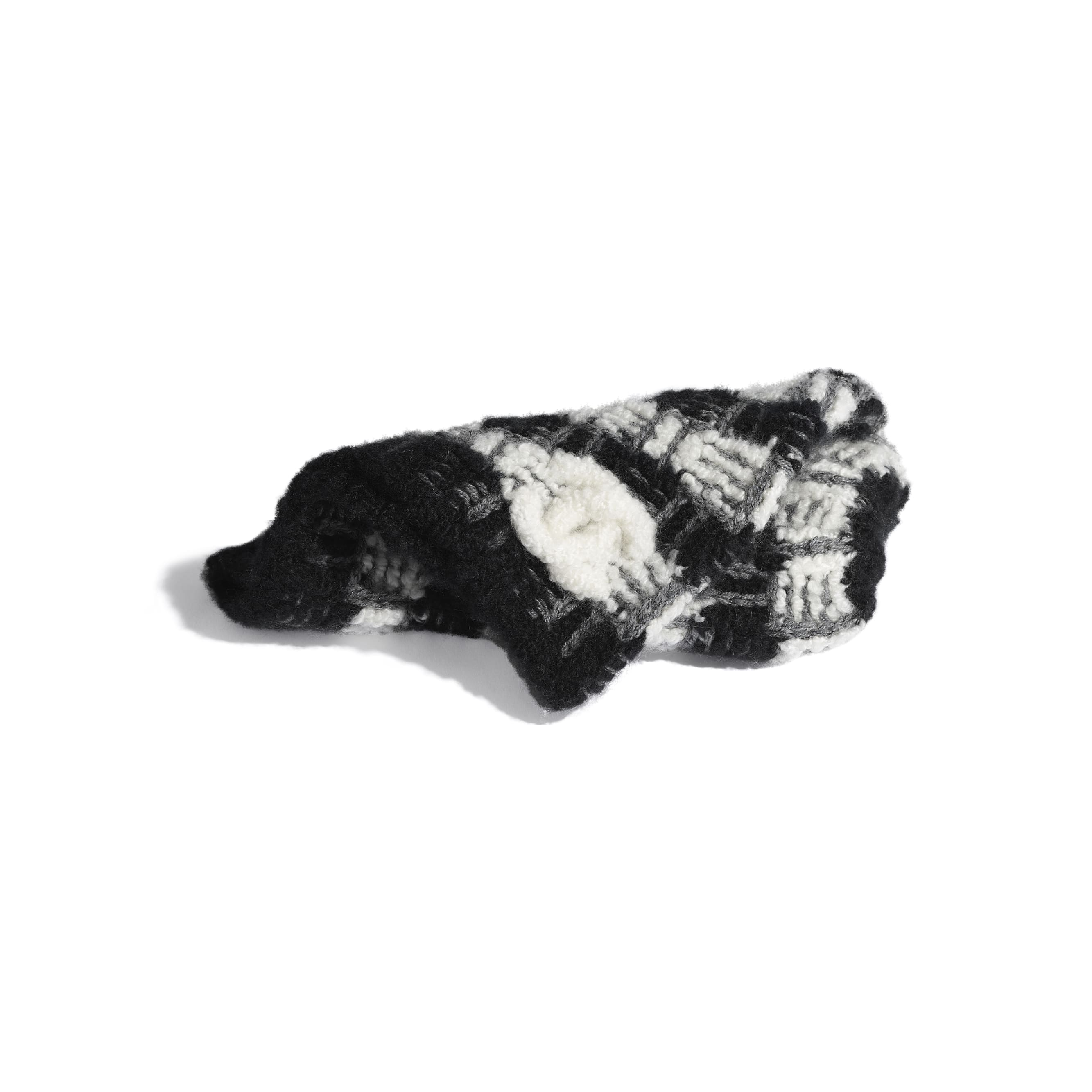 Beanie - Black & Grey - Cashmere - Alternative view - see standard sized version