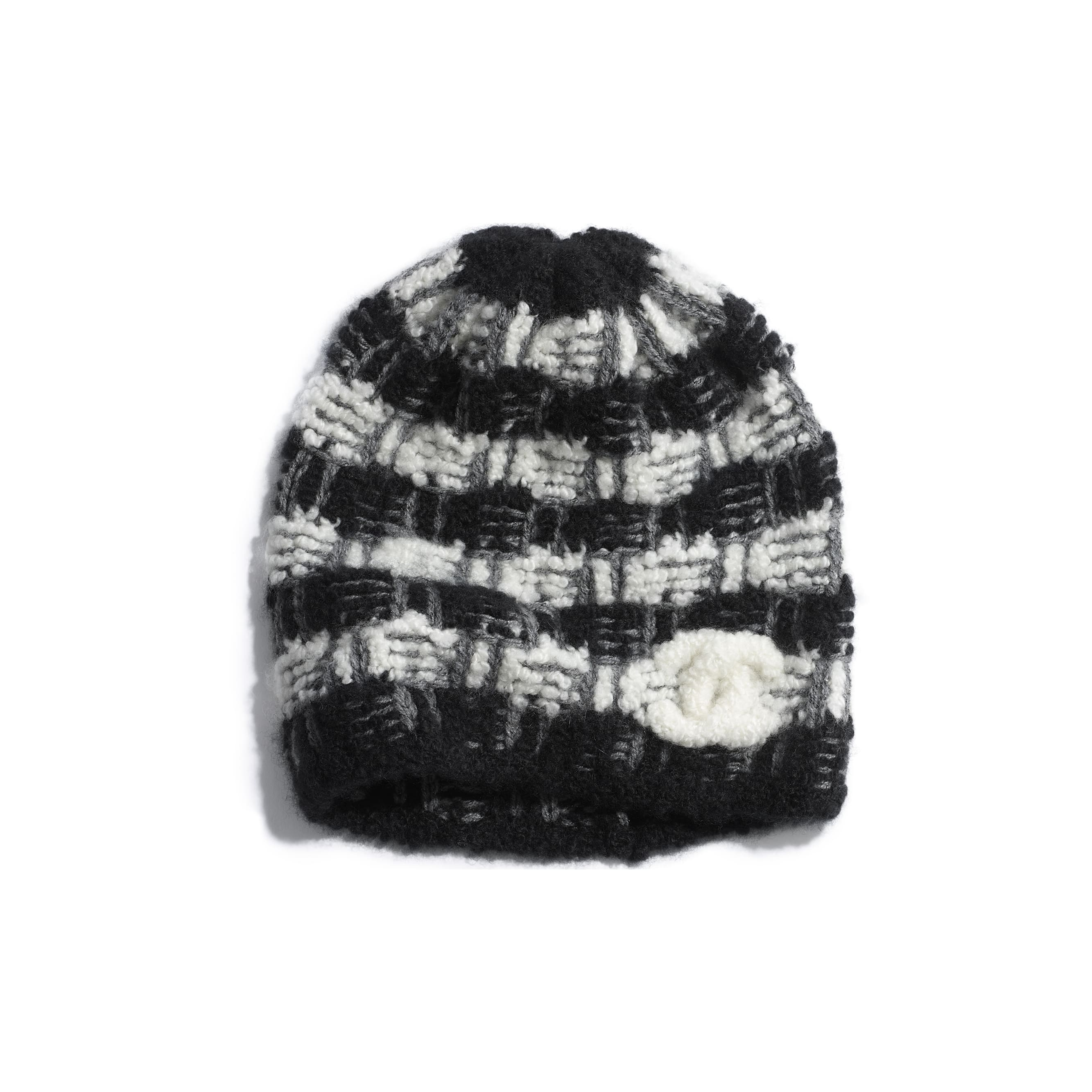 Beanie - Black & Grey - Cashmere - Default view - see standard sized version