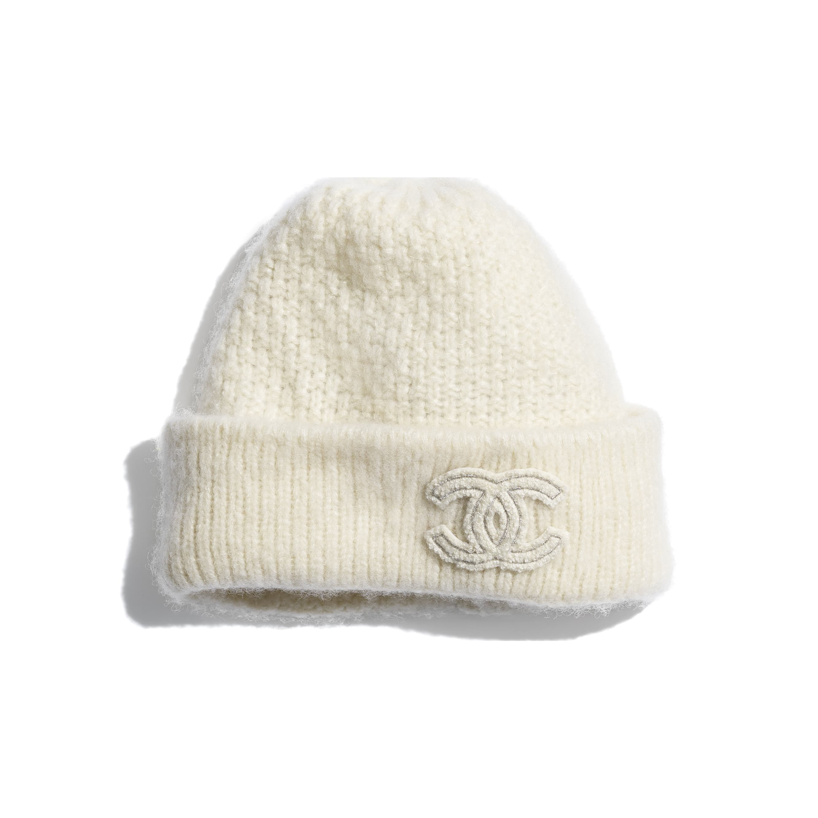 Beanie - Ivory - Cashmere & Silk - CHANEL - Default view - see standard sized version