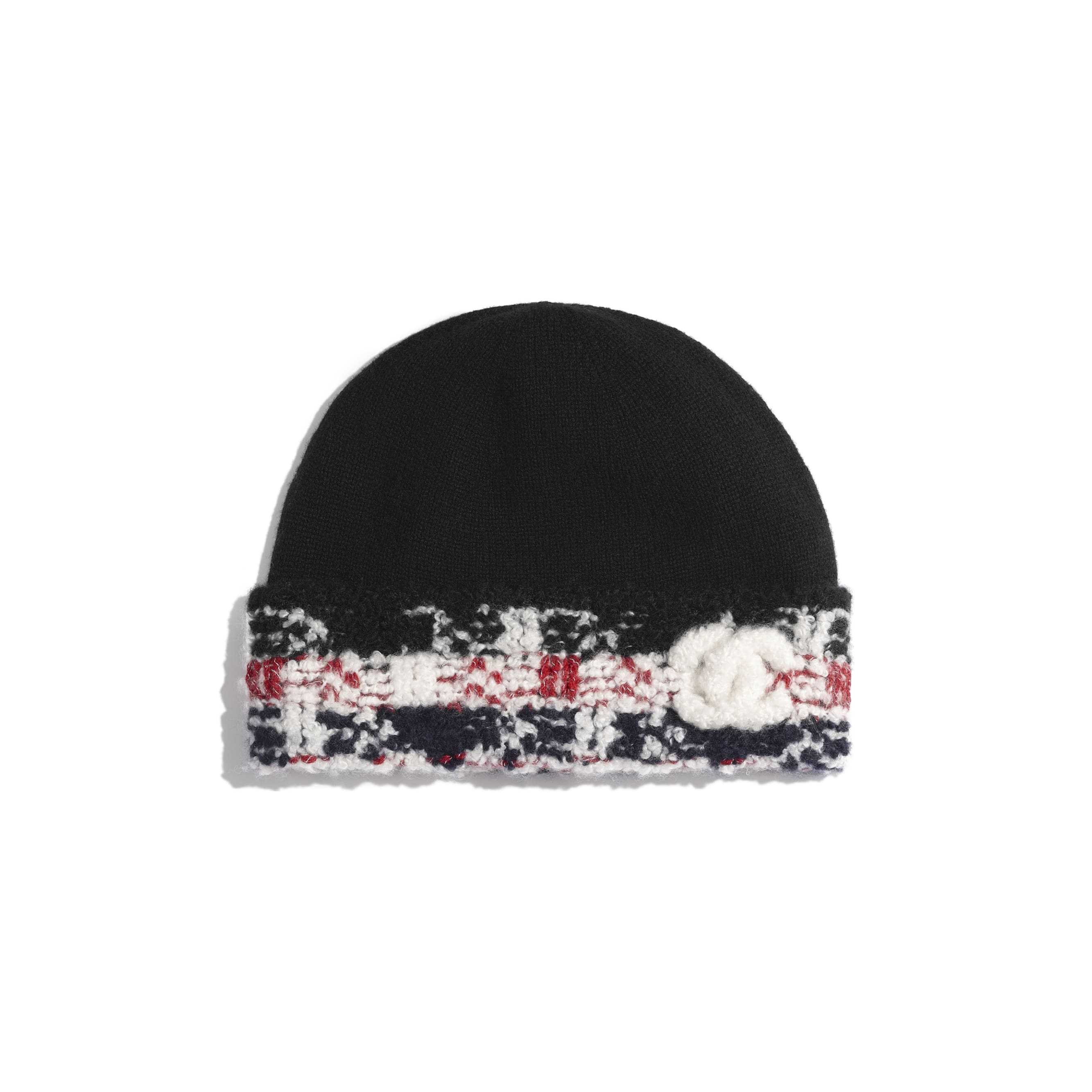 Beanie - Red & Black - Cashmere - Default view - see standard sized version