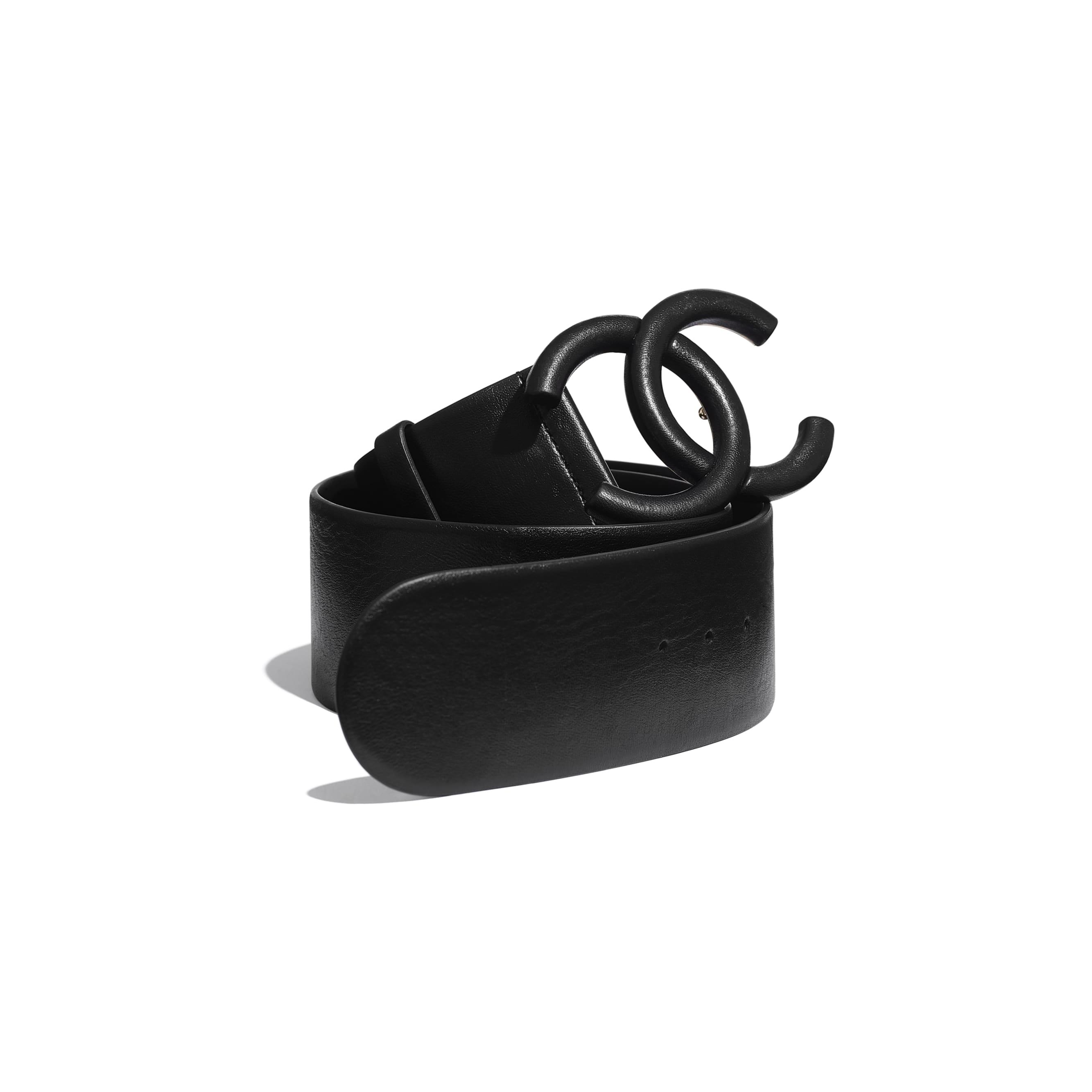 Belt - Black - Lambskin - Default view - see standard sized version