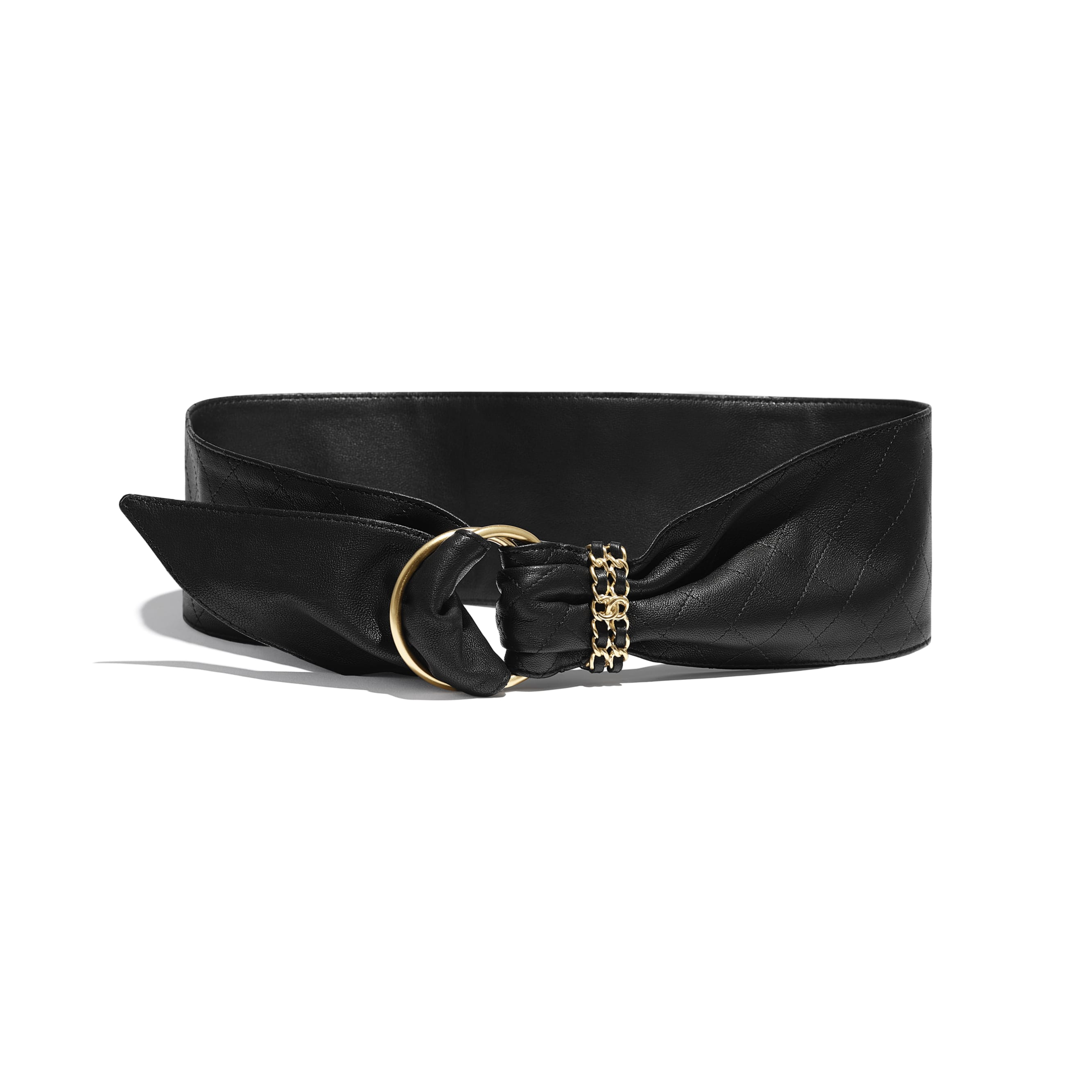 Belt - Black - Lambskin - Default view - see standard sized version