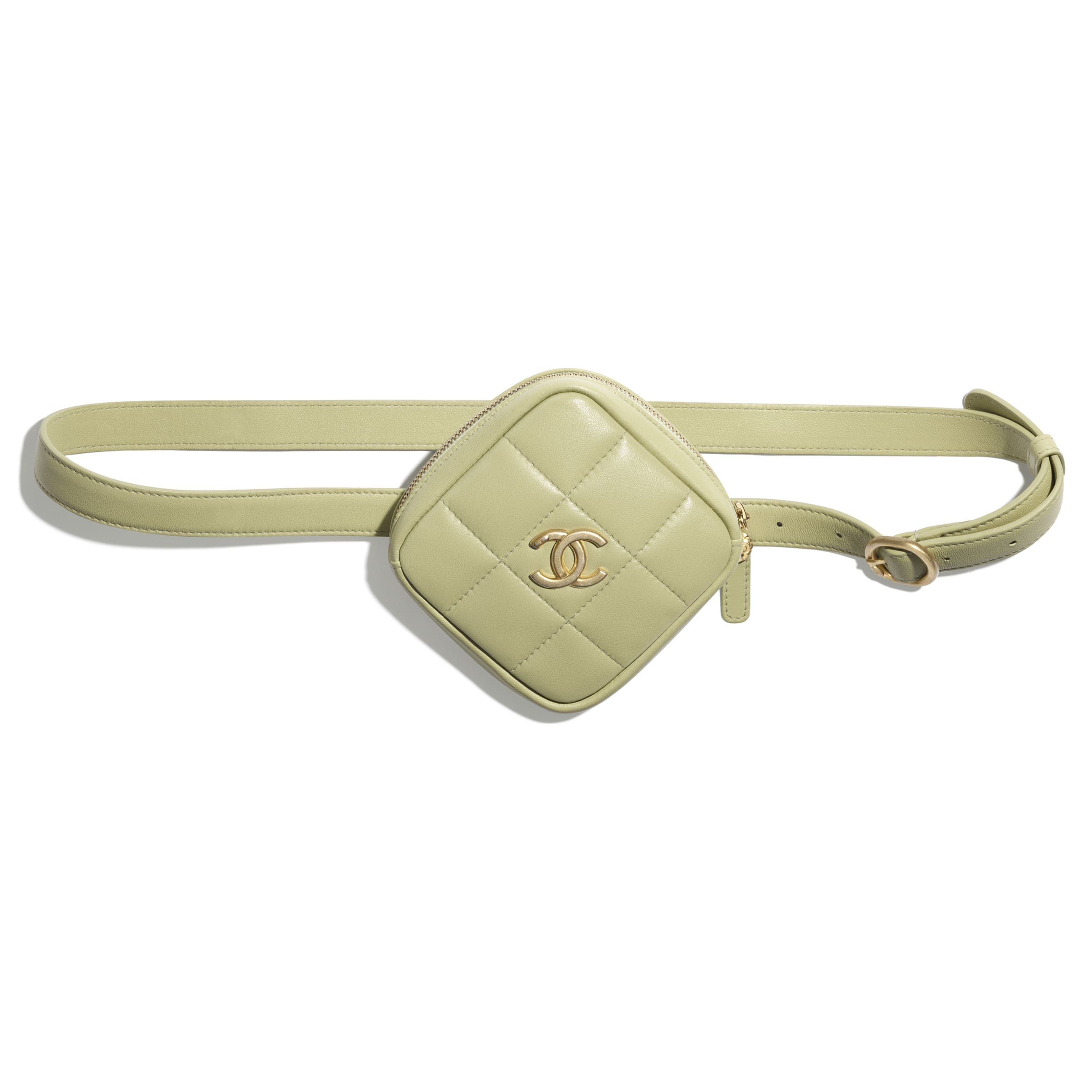 Belt Coin Purse - Green - Lambskin - CHANEL - Extra view - see standard sized version