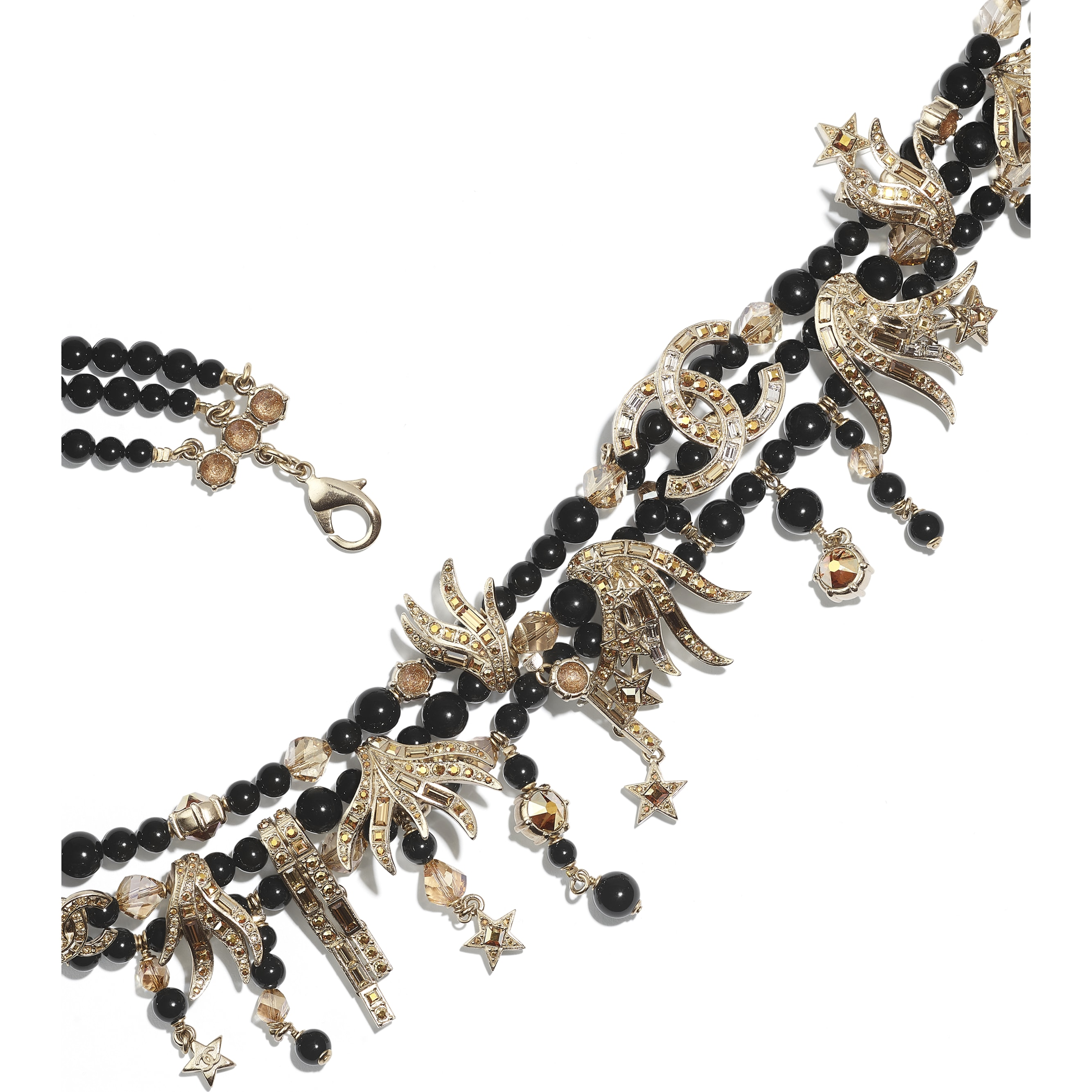 Belt - Gold, Black & Crystal - Metal, Glass Pearls, Glass & Strass - CHANEL - Alternative view - see standard sized version