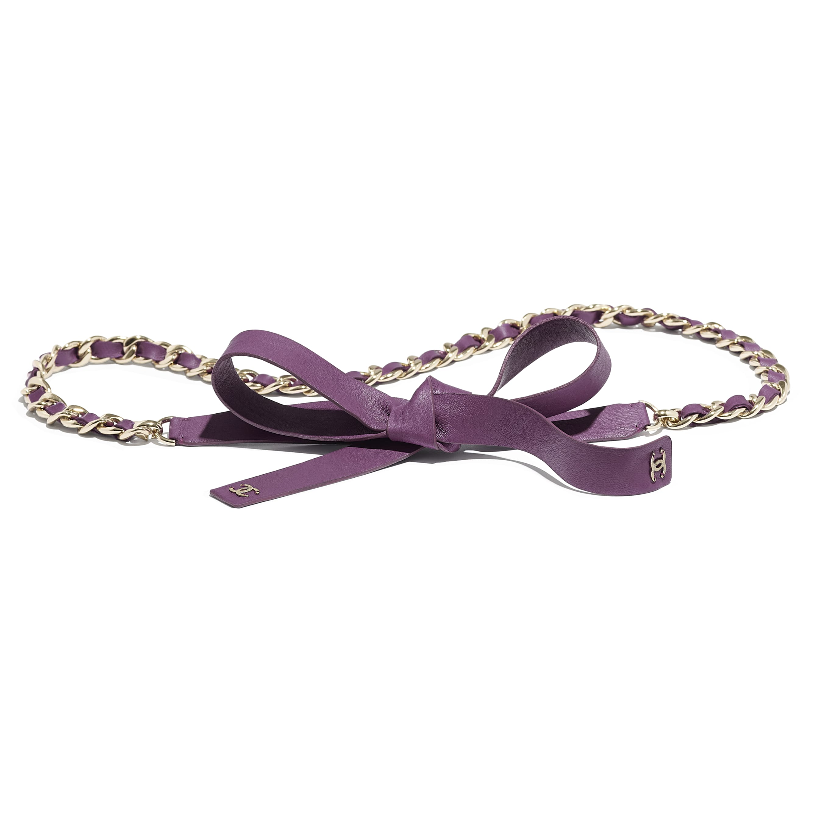 Belt - Purple - Lambskin - Default view - see standard sized version