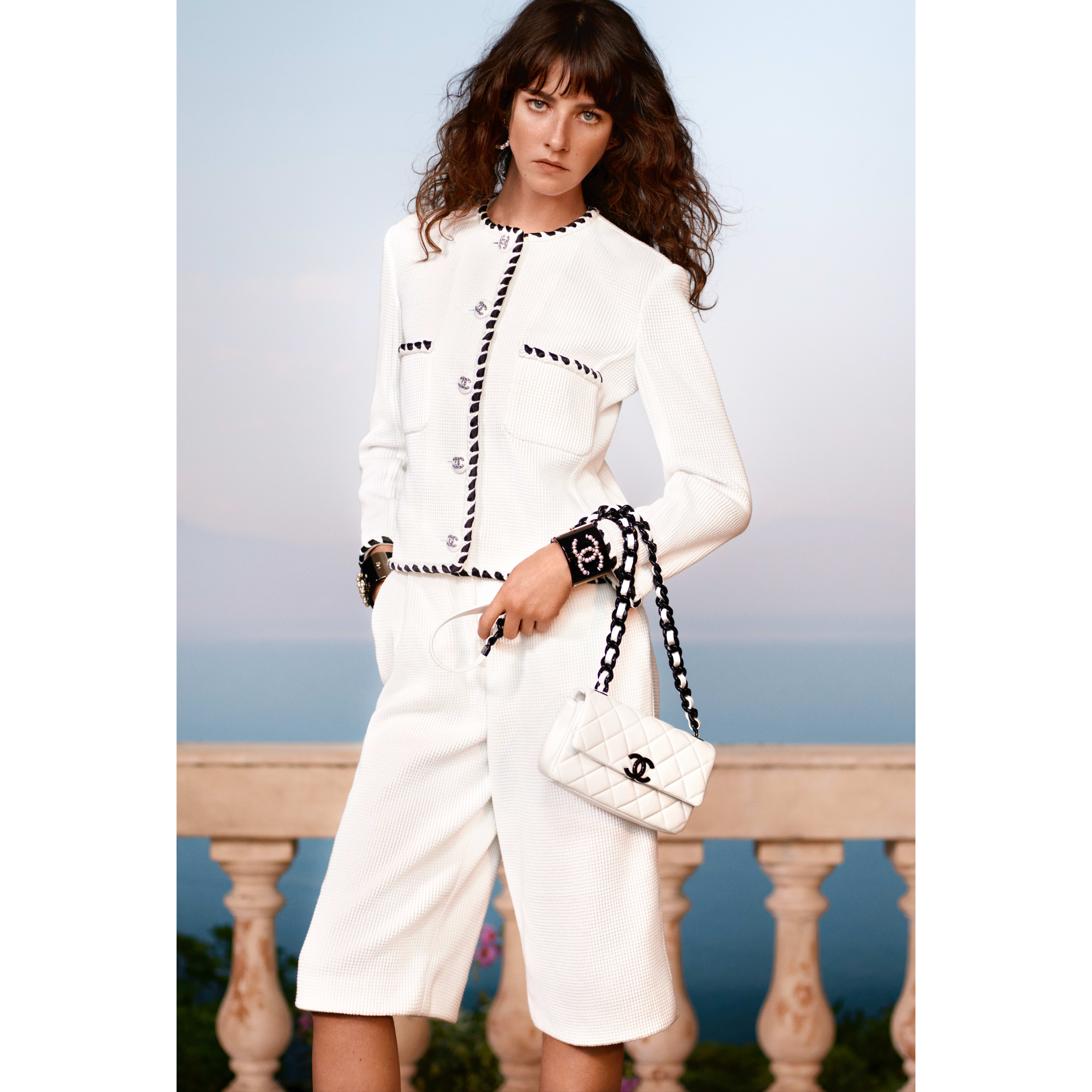 Bermuda Shorts - White - Cotton - CHANEL - Default view - see standard sized version