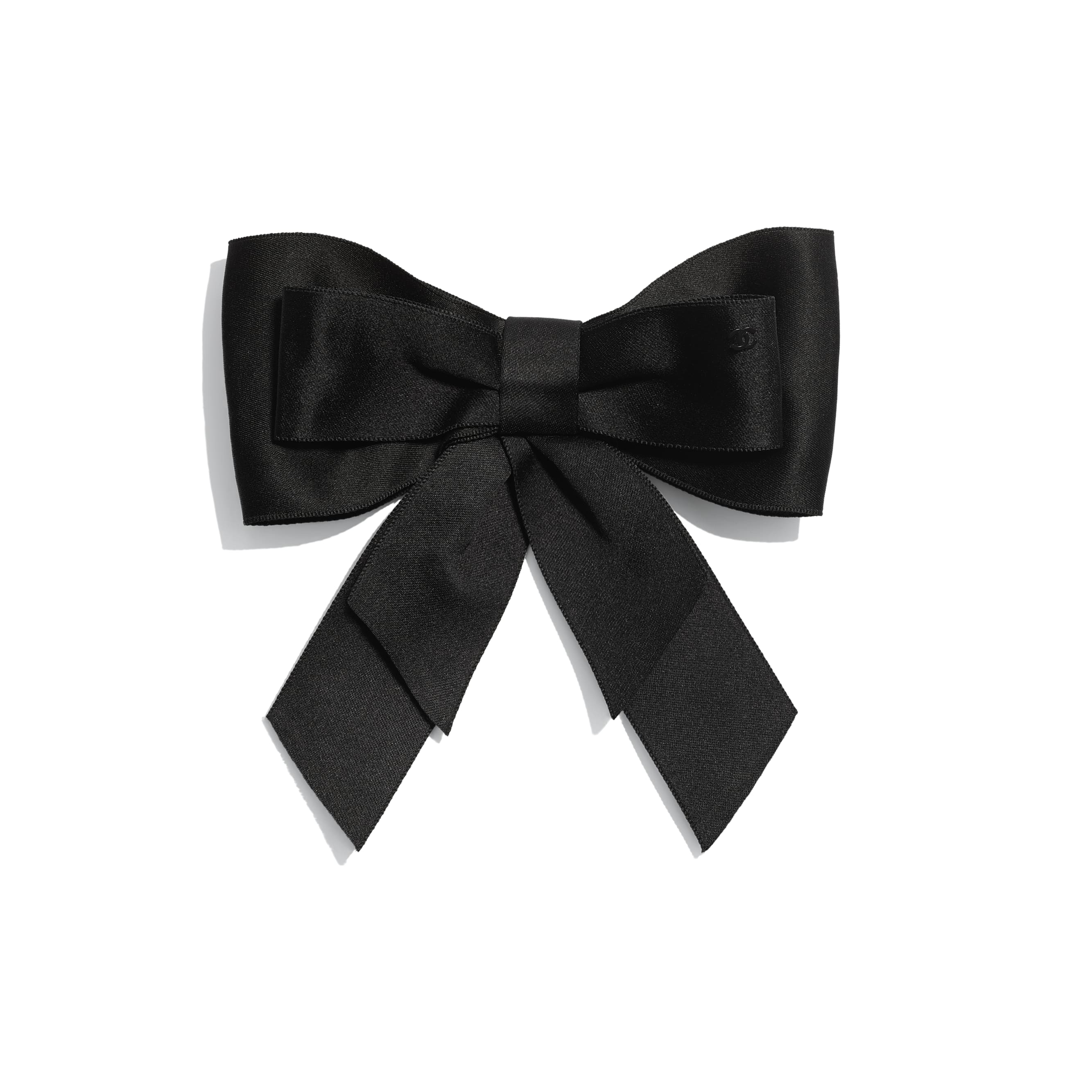 Bow - Black - Silk Satin - Default view - see standard sized version