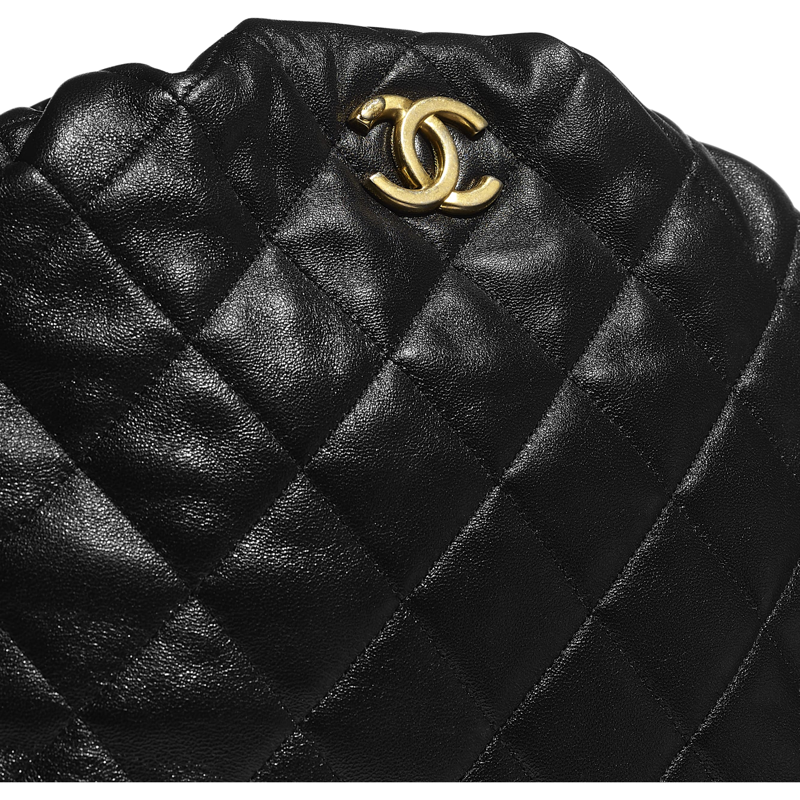 Bowling Bag - Black - Lambskin & Gold-Tone Metal - CHANEL - Extra view - see standard sized version