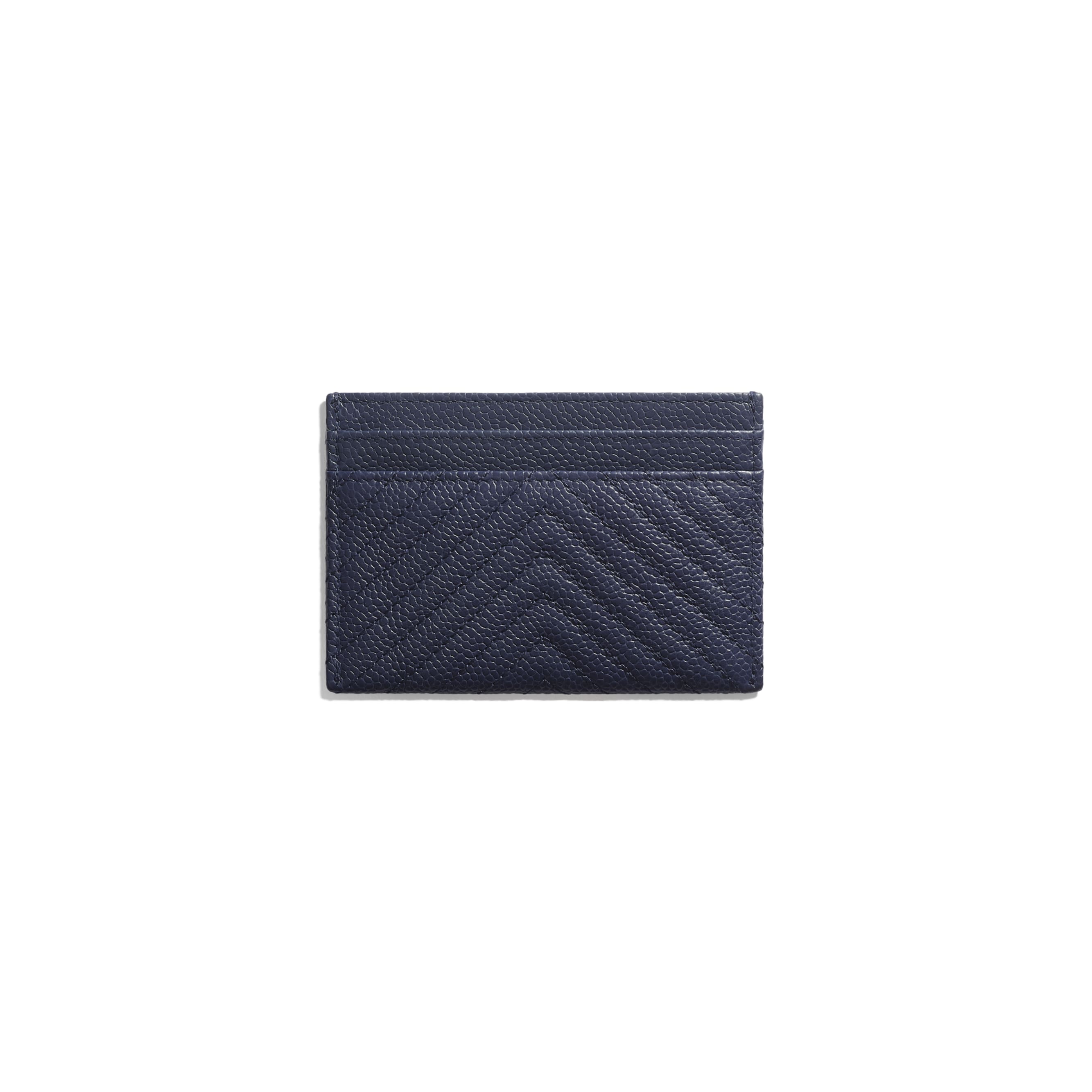 BOY CHANEL Card Holder - Navy Blue - Grained Calfskin & Ruthenium-Finish Metal - Alternative view - see standard sized version
