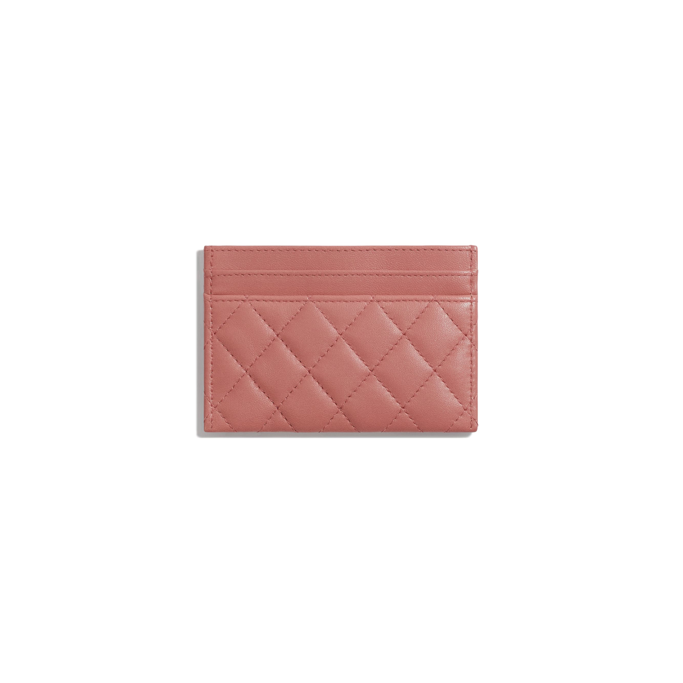 BOY CHANEL Card Holder - Pink - Lambskin - Alternative view - see standard sized version